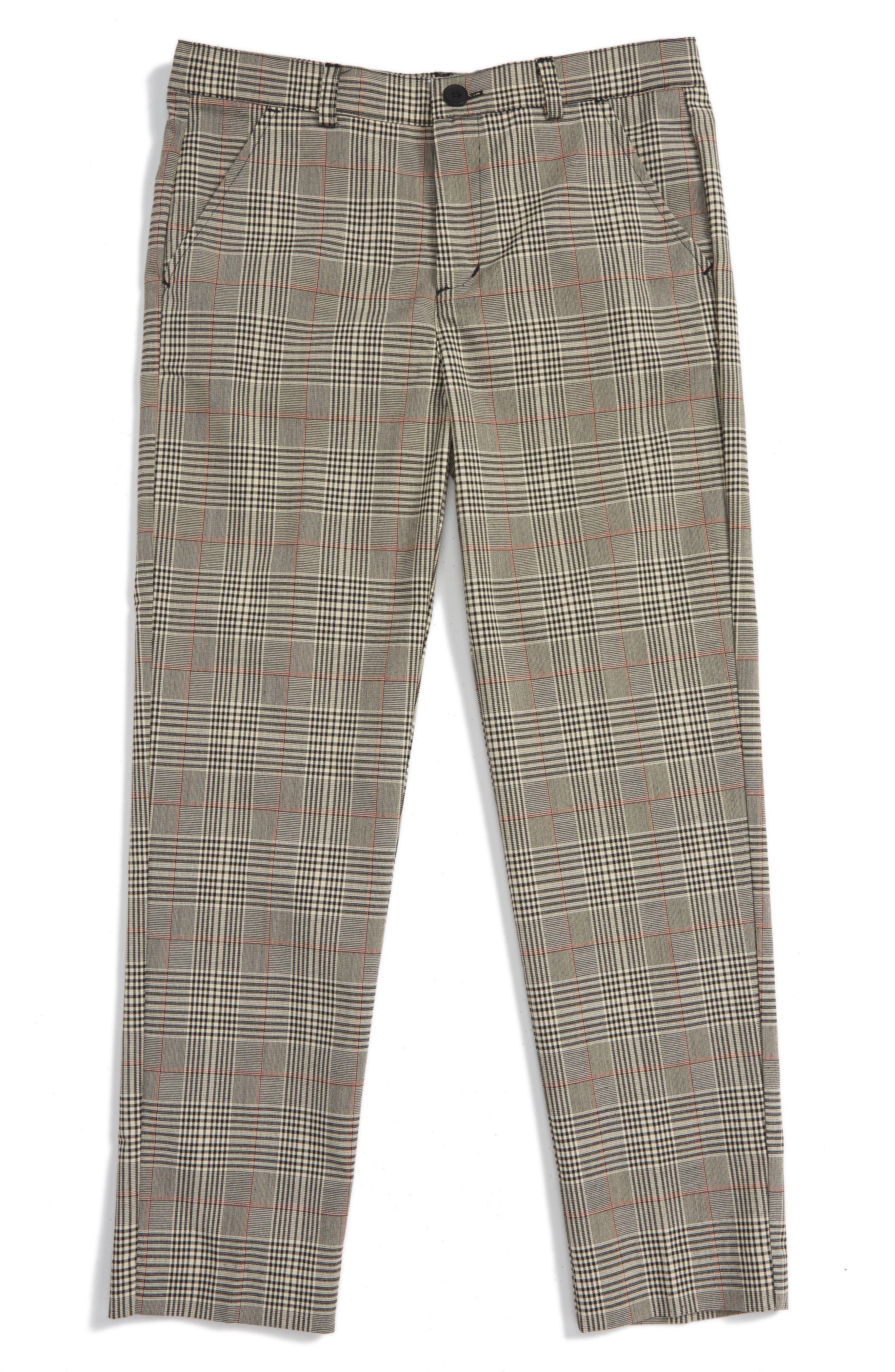 Plaid Trousers,                         Main,                         color, Black