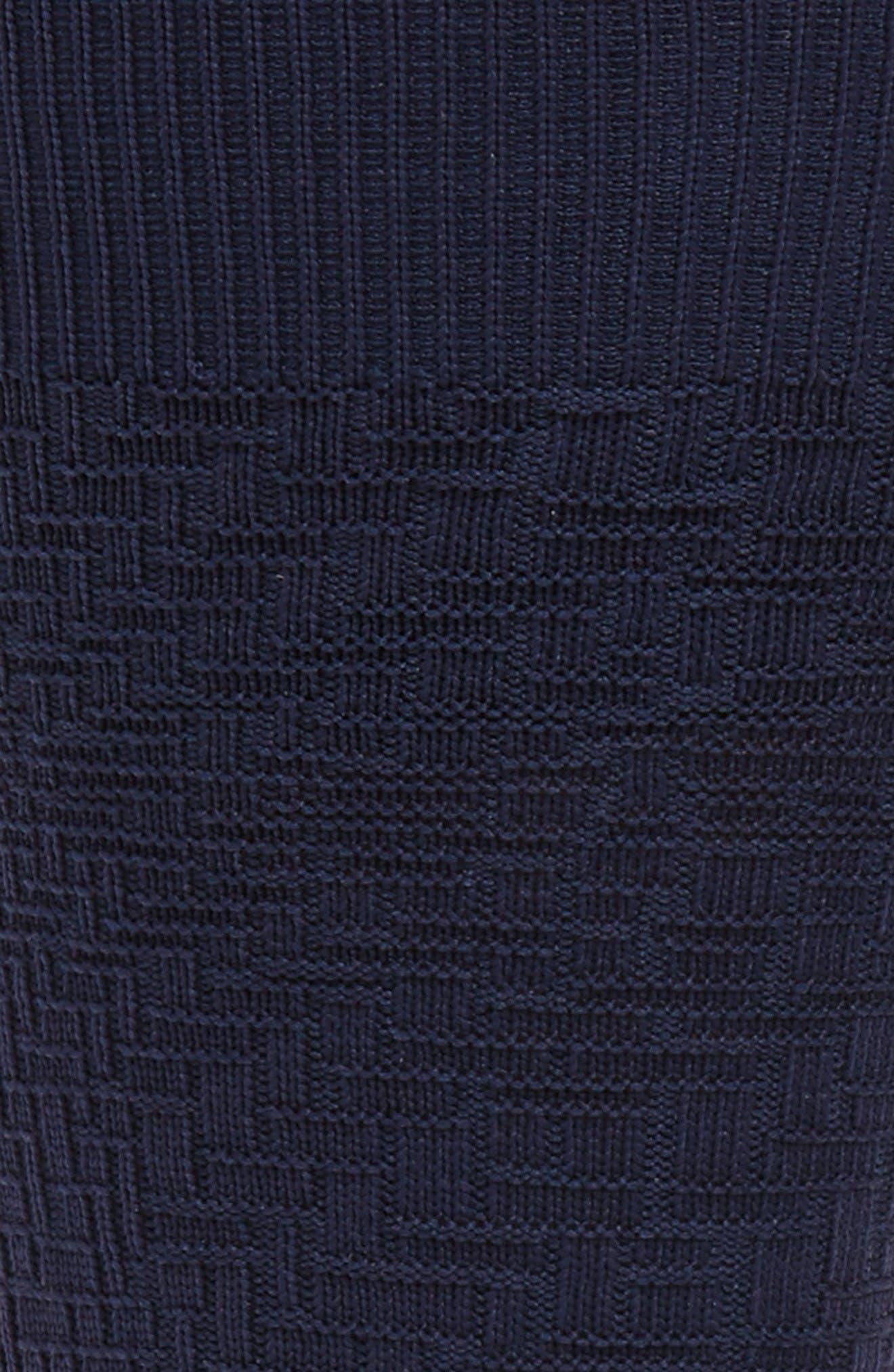 Distorted Texture Crew Socks,                             Alternate thumbnail 2, color,                             Marine Blue