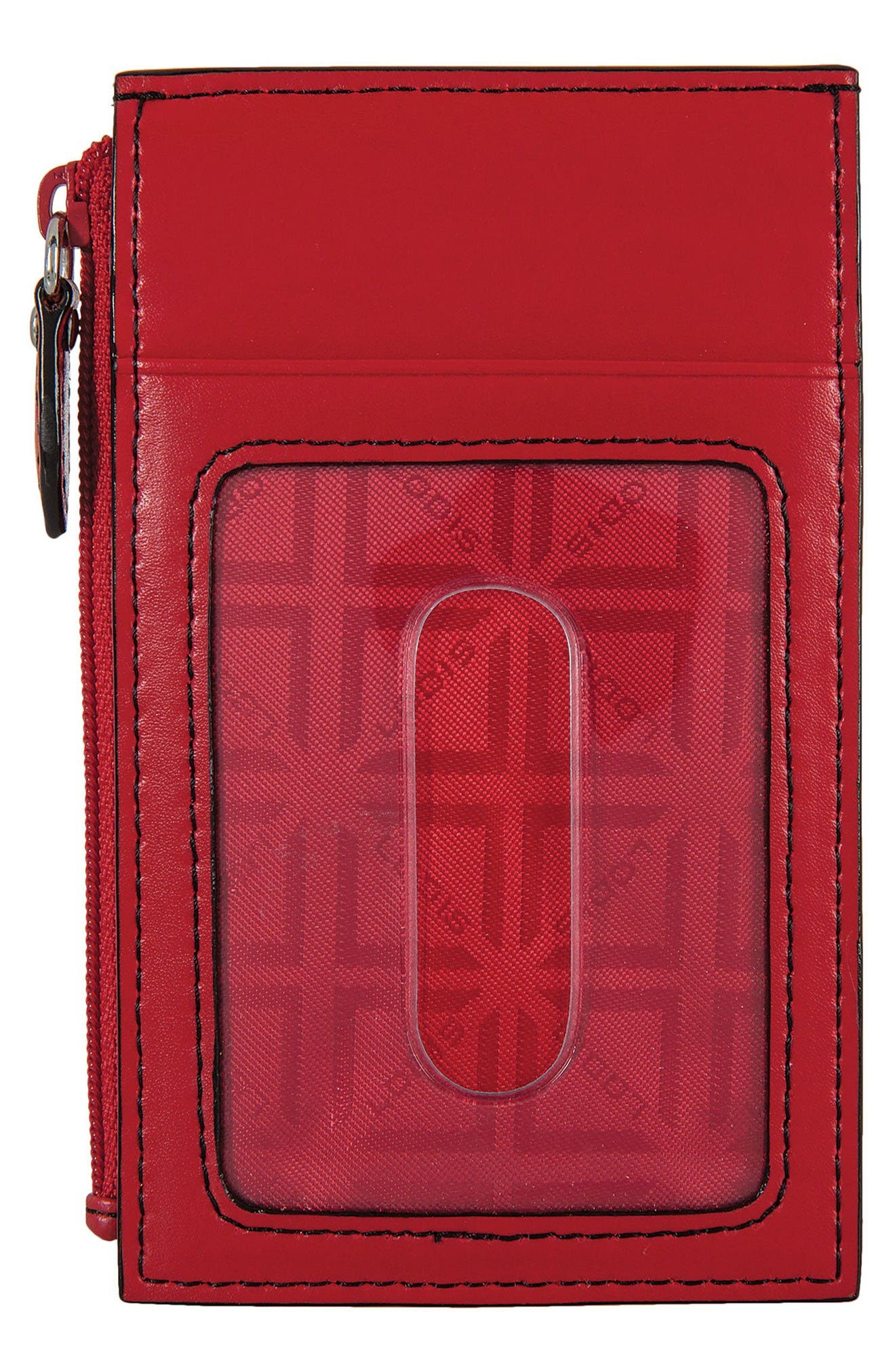 Lodis Audrey Ina Card Case,                             Alternate thumbnail 2, color,                             Red