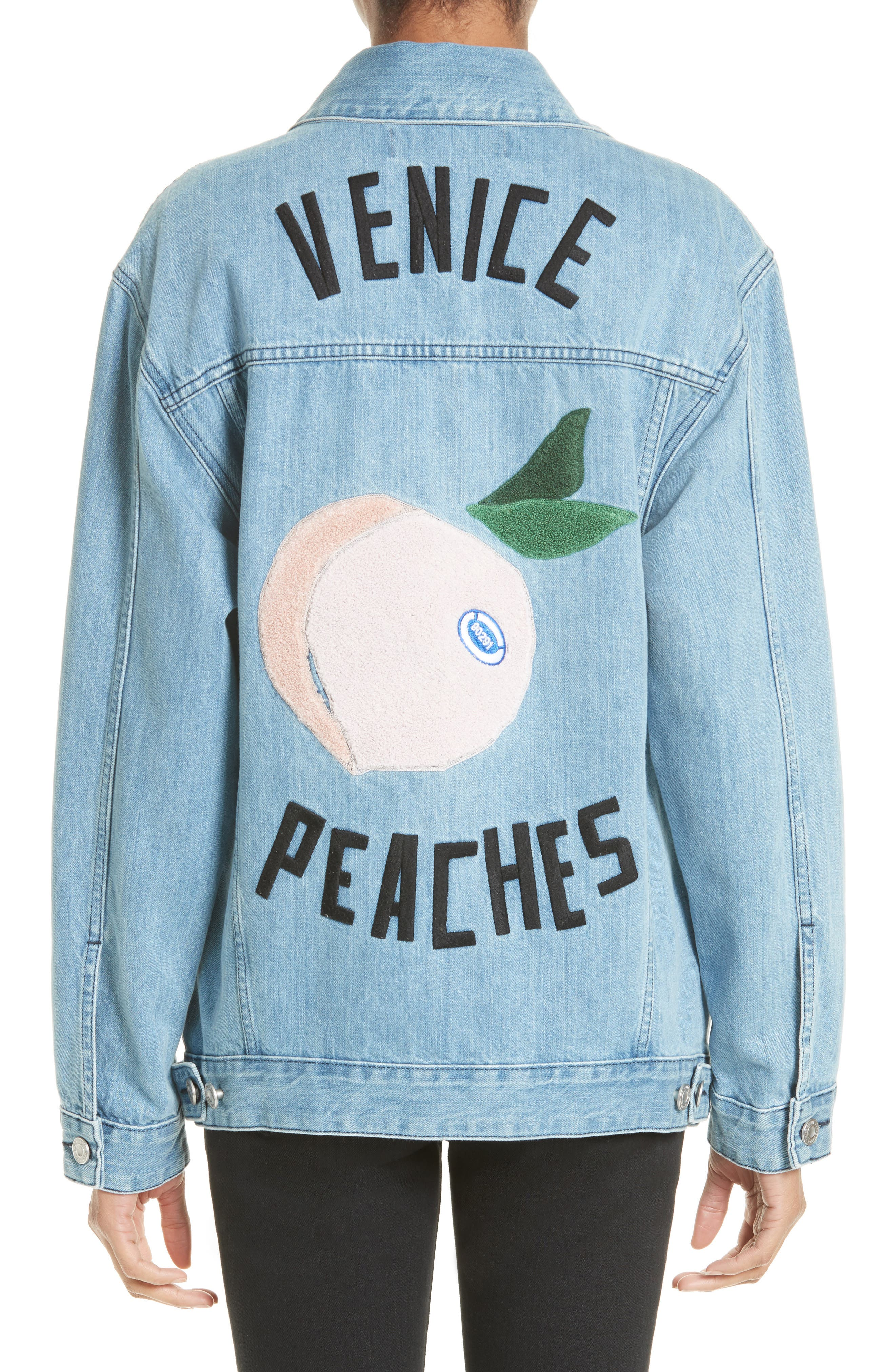 Alternate Image 2  - être cécile Venice Peaches Oversize Denim Jacket