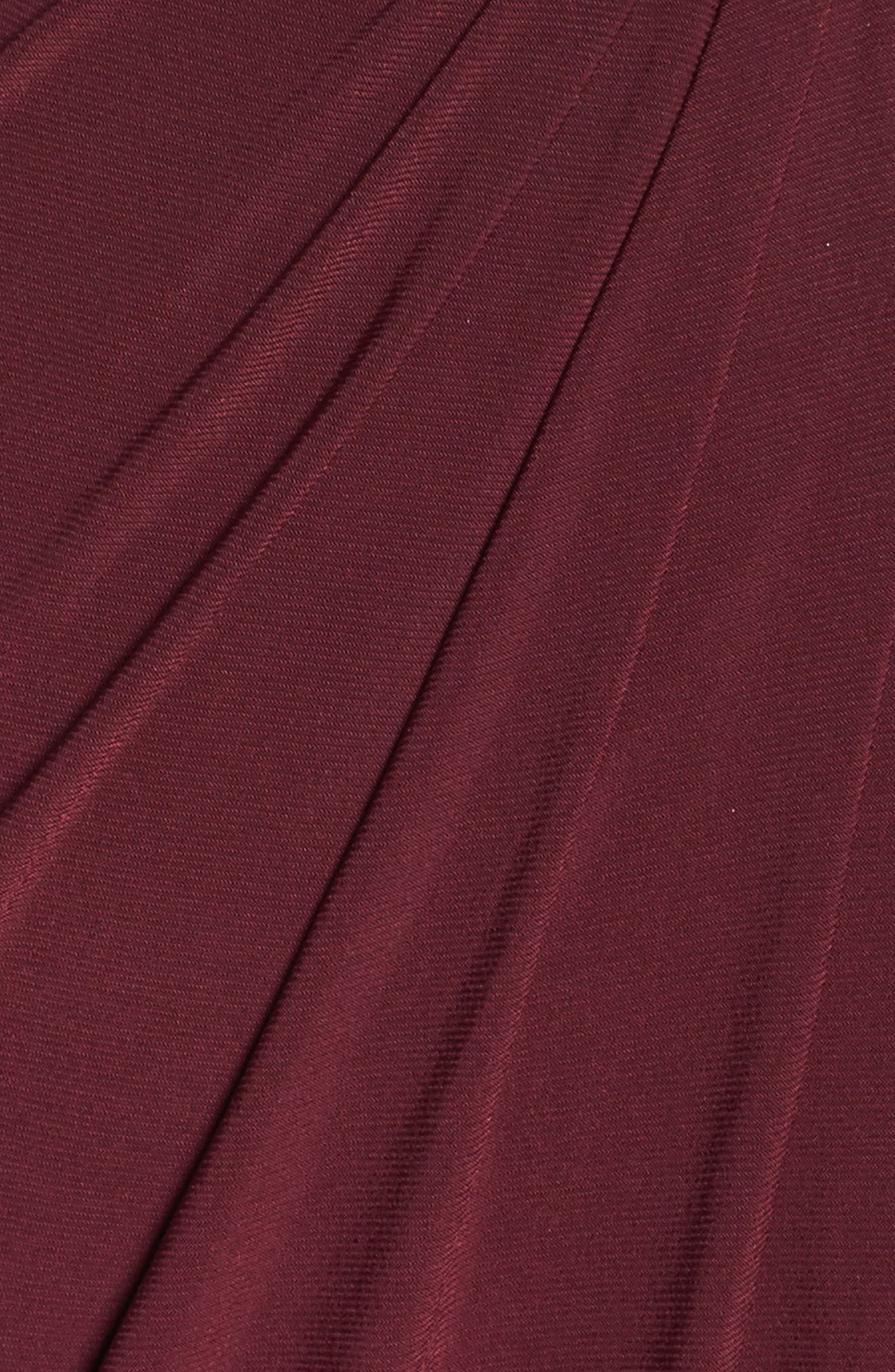 Embellished Shoulder Jersey Gown,                             Alternate thumbnail 5, color,                             Burgundy