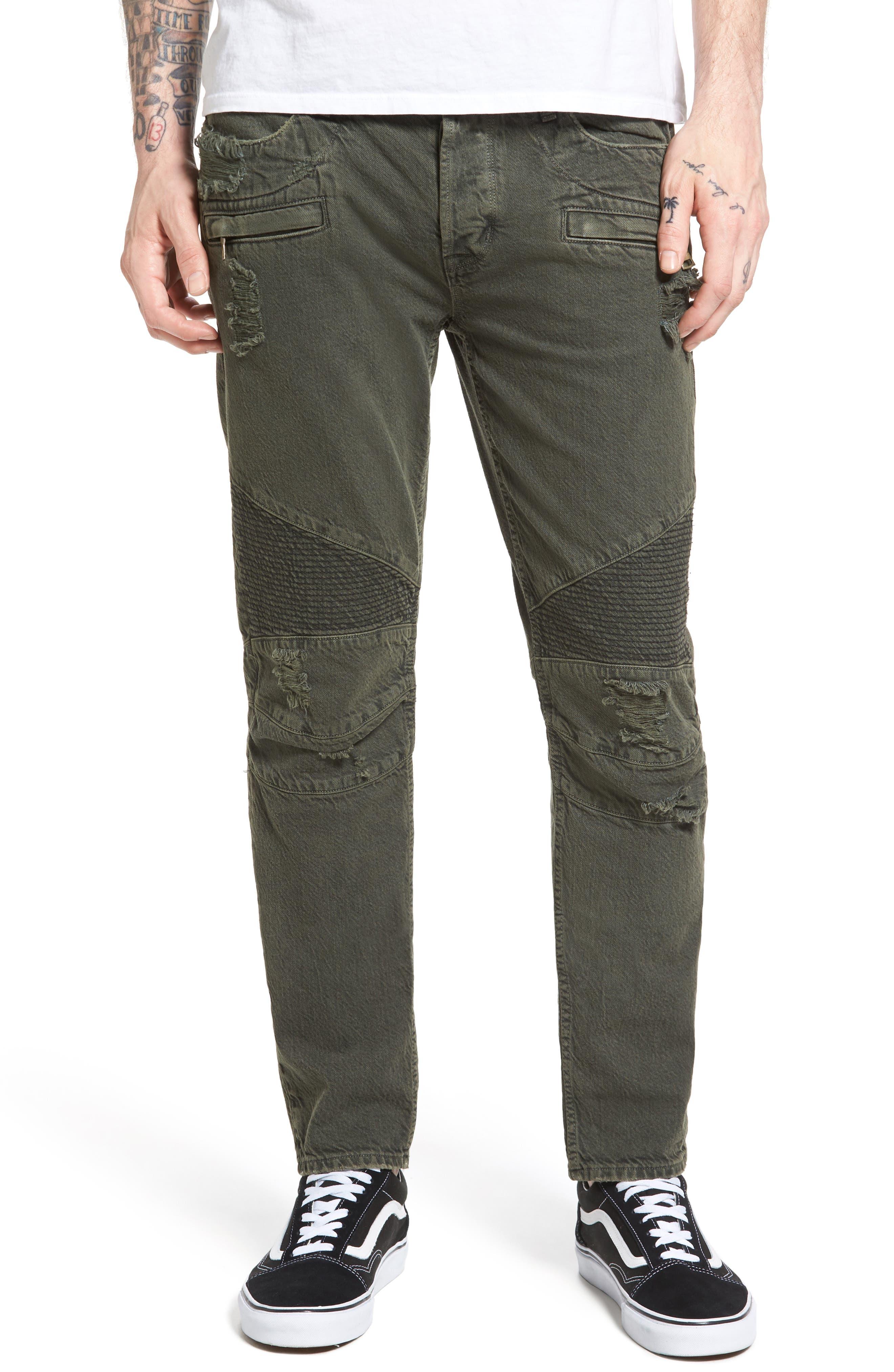 Blinder Biker Skinny Fit Jeans,                             Main thumbnail 1, color,                             Fortitude Green