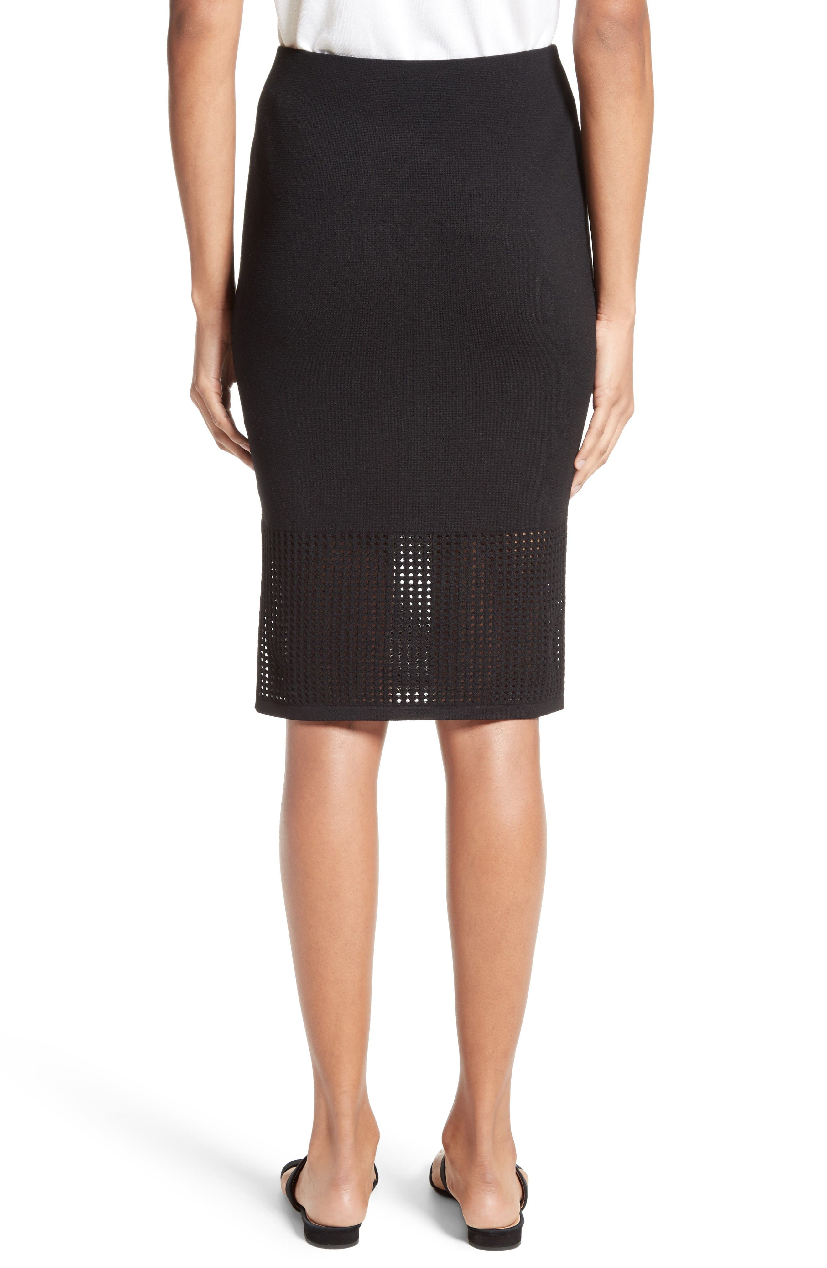 Alternate Image 2  - St. John Collection Technical Mesh Knit Pencil Skirt