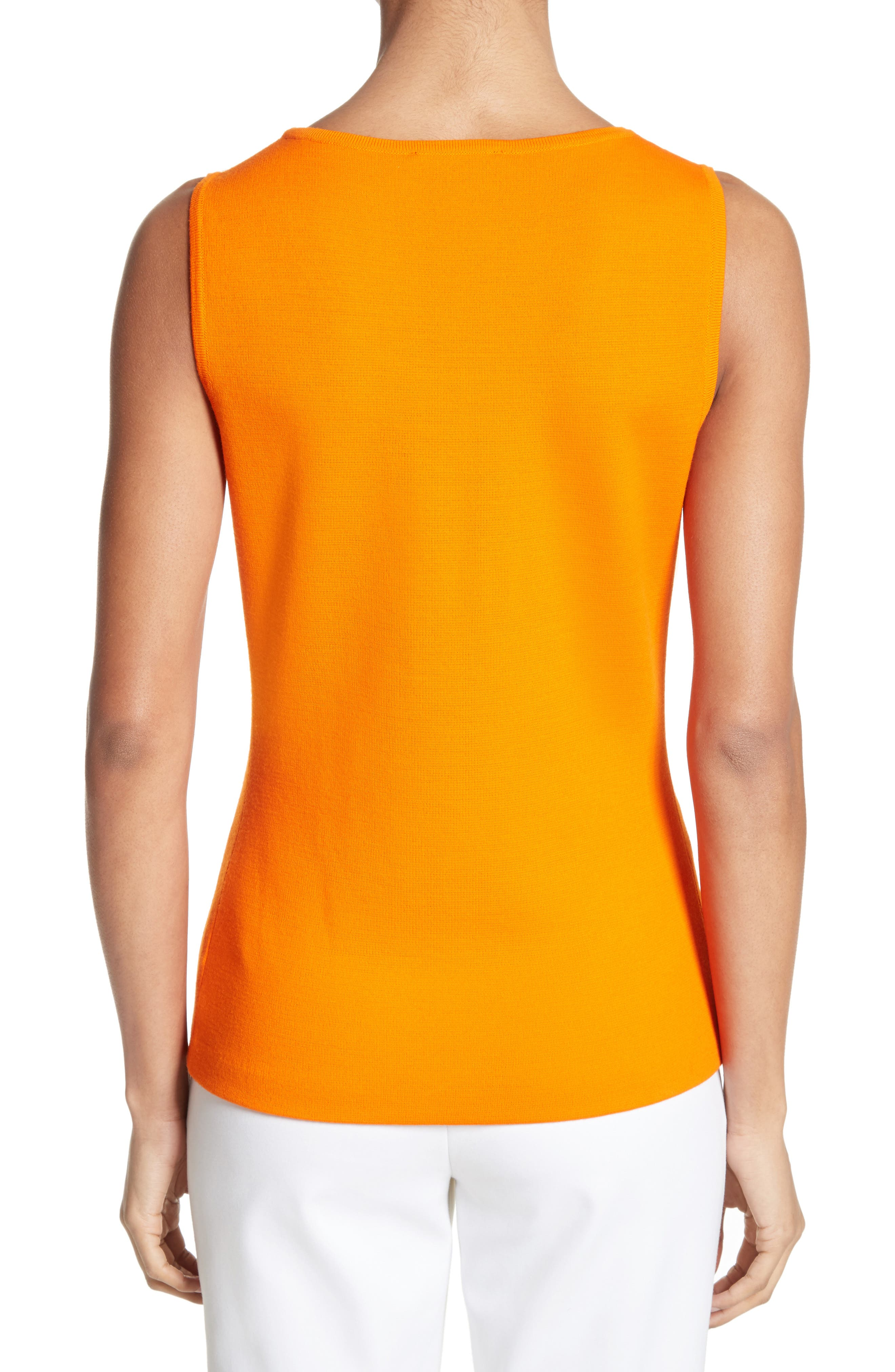 Alternate Image 2  - St. John Collection Milano Knit Contour Shell