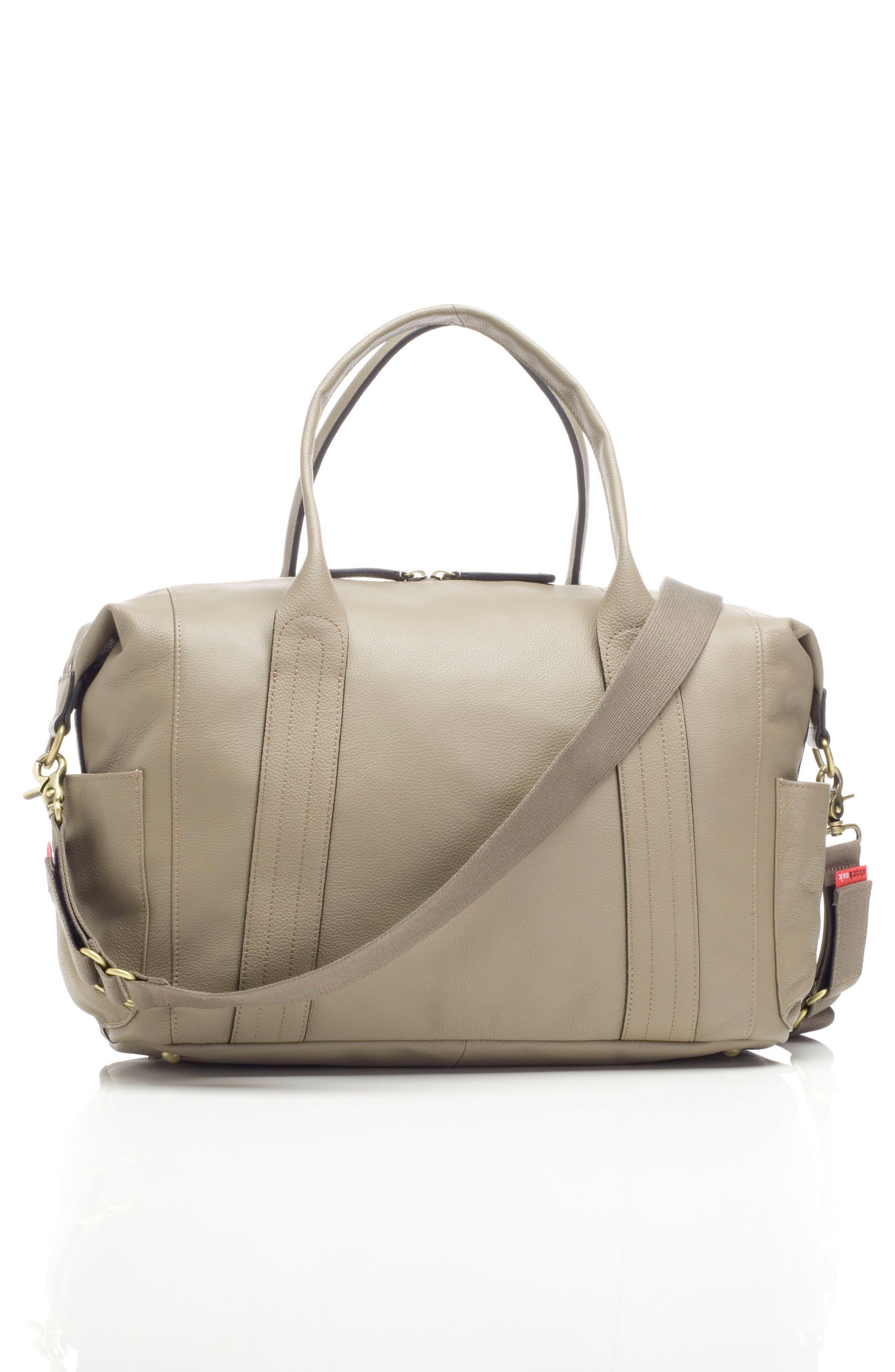 Alternate Image 2  - Storsak Leather Diaper Bag