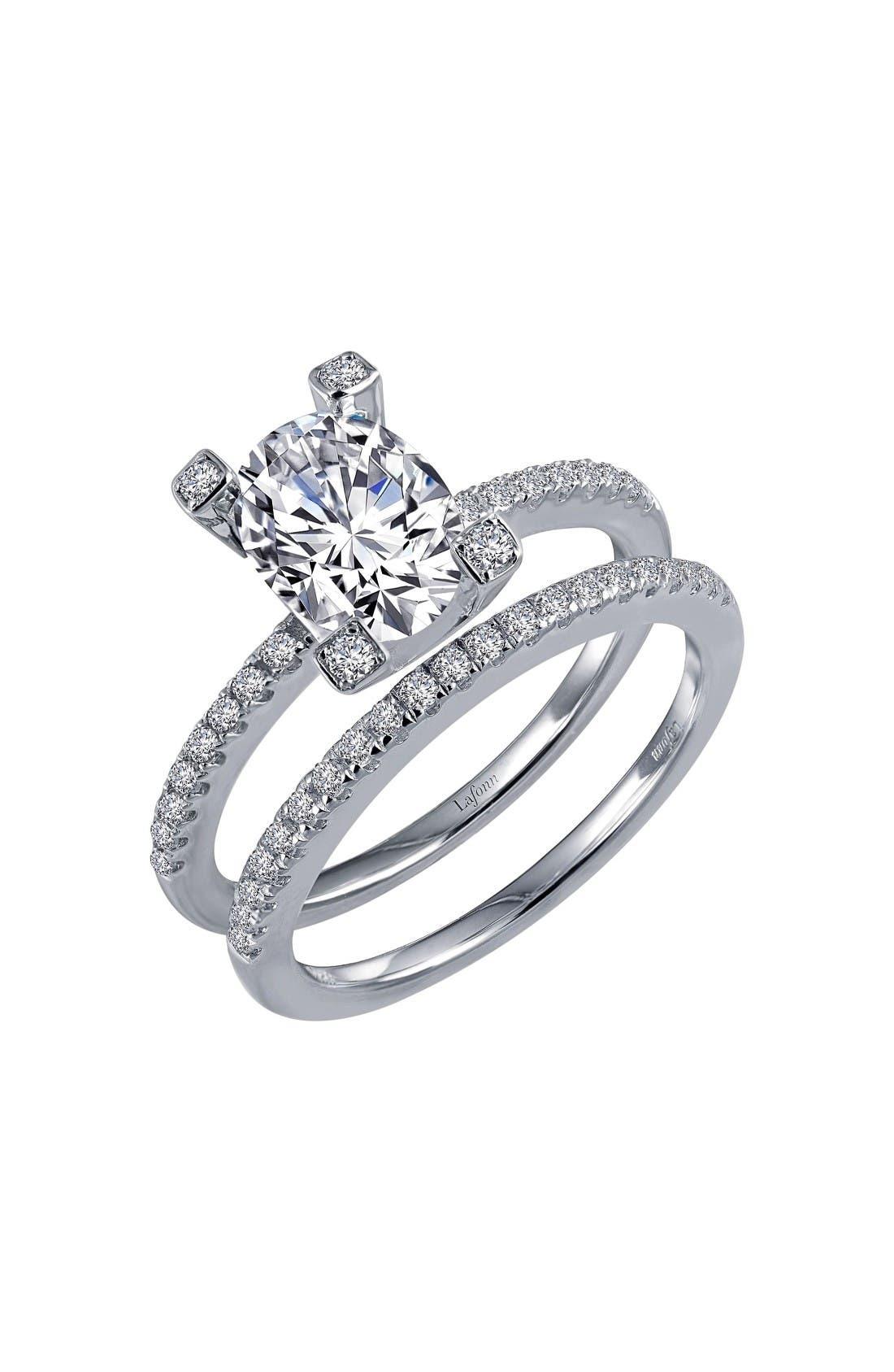 LAFONN Simulated Diamond Openwork Ring
