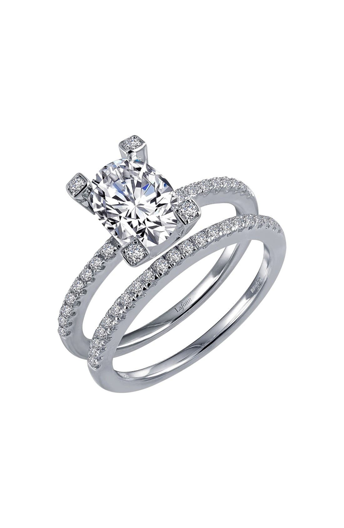 Simulated Diamond Openwork Ring,                         Main,                         color, Silver