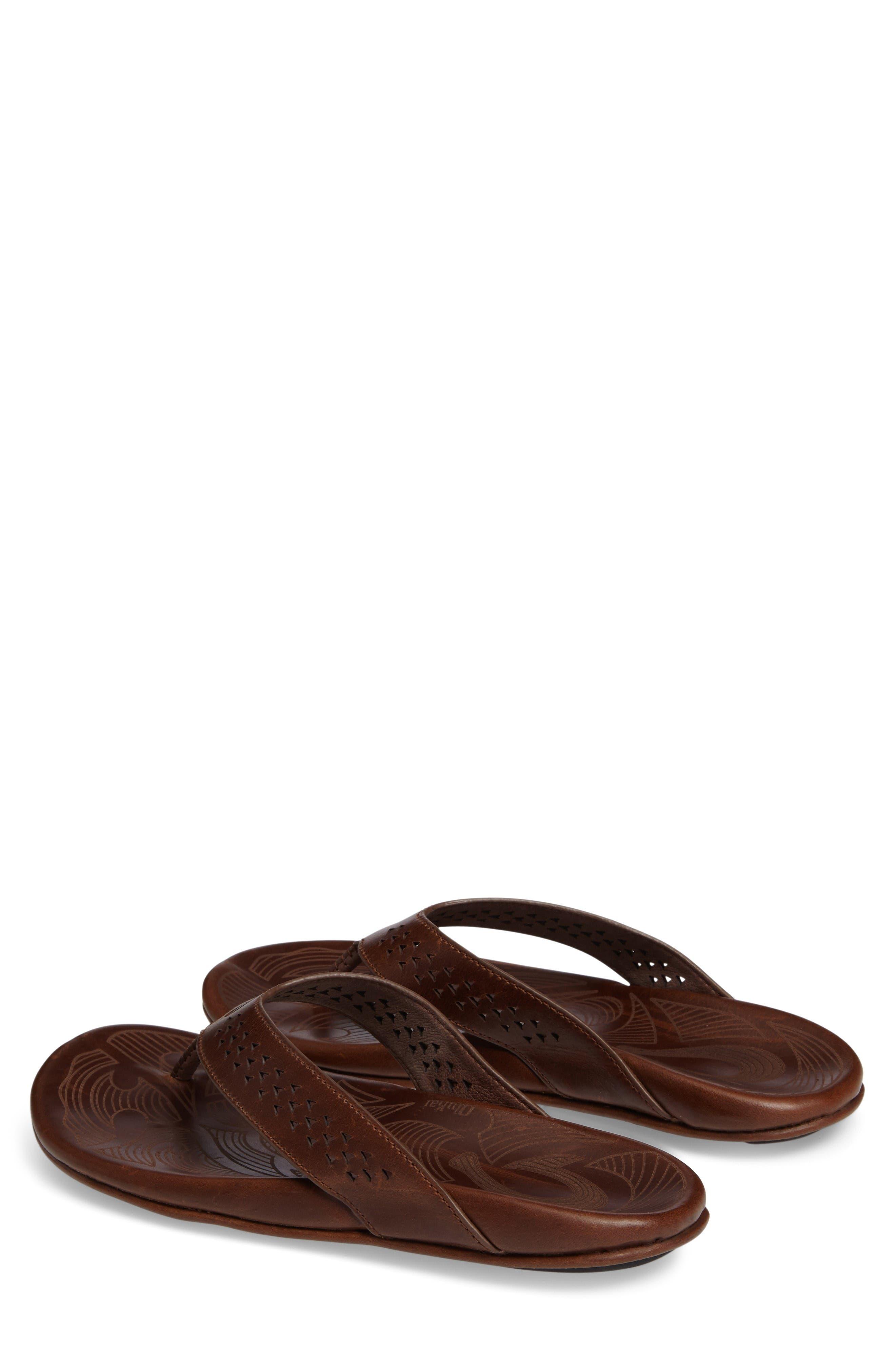 Kohana Flip Flop,                             Alternate thumbnail 3, color,                             Toffee/ Toffee Leather
