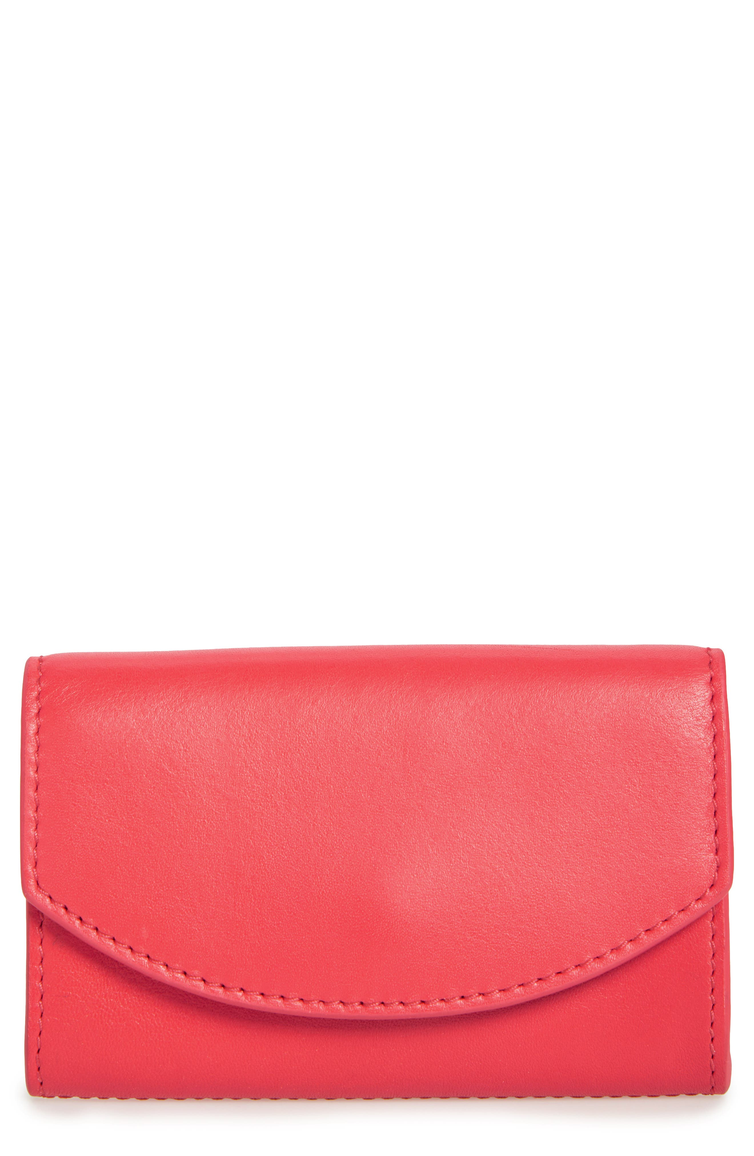 Leather Card Case,                         Main,                         color, Lotus