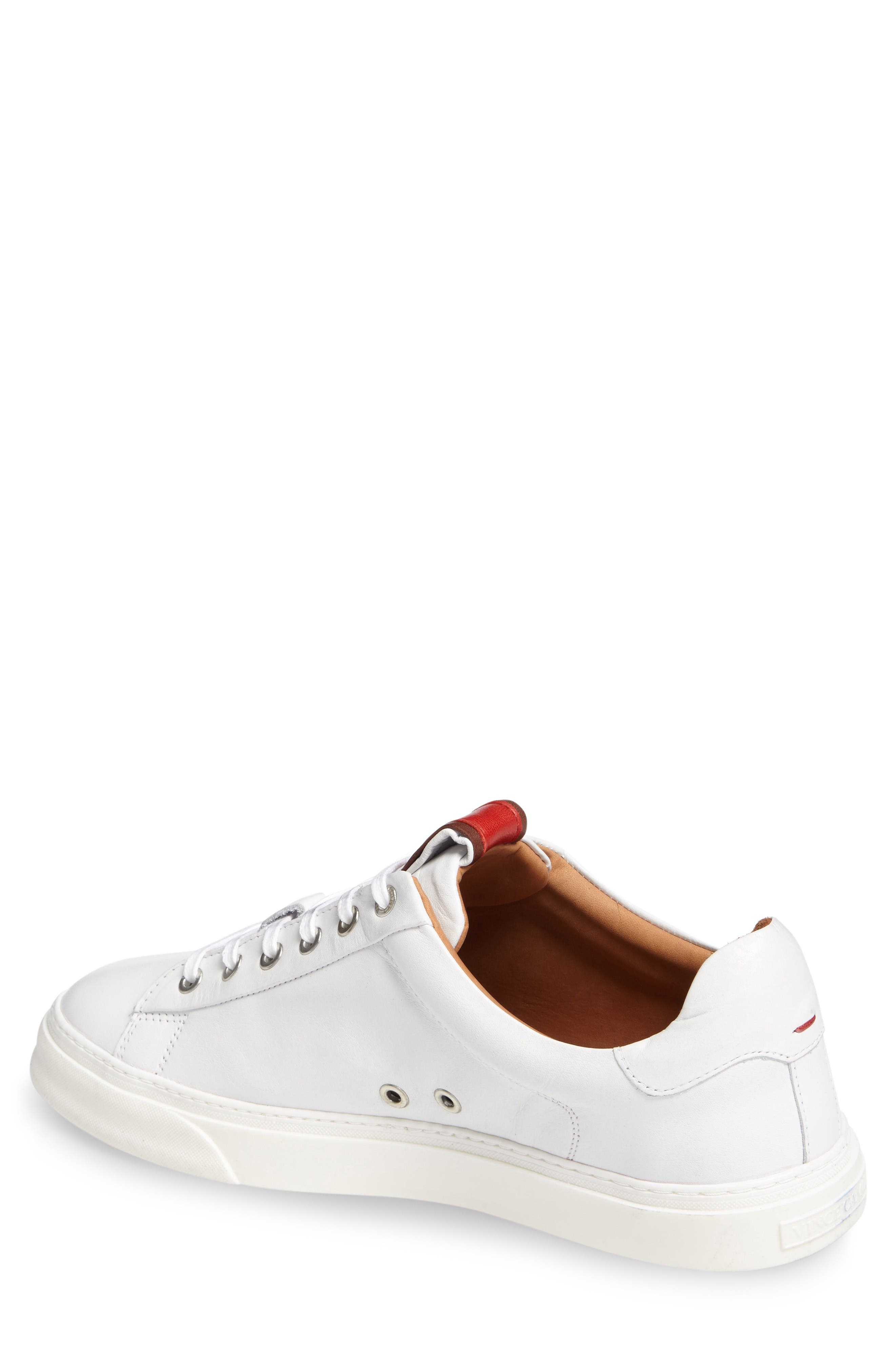 Quin Sneaker,                             Alternate thumbnail 2, color,                             White Leather
