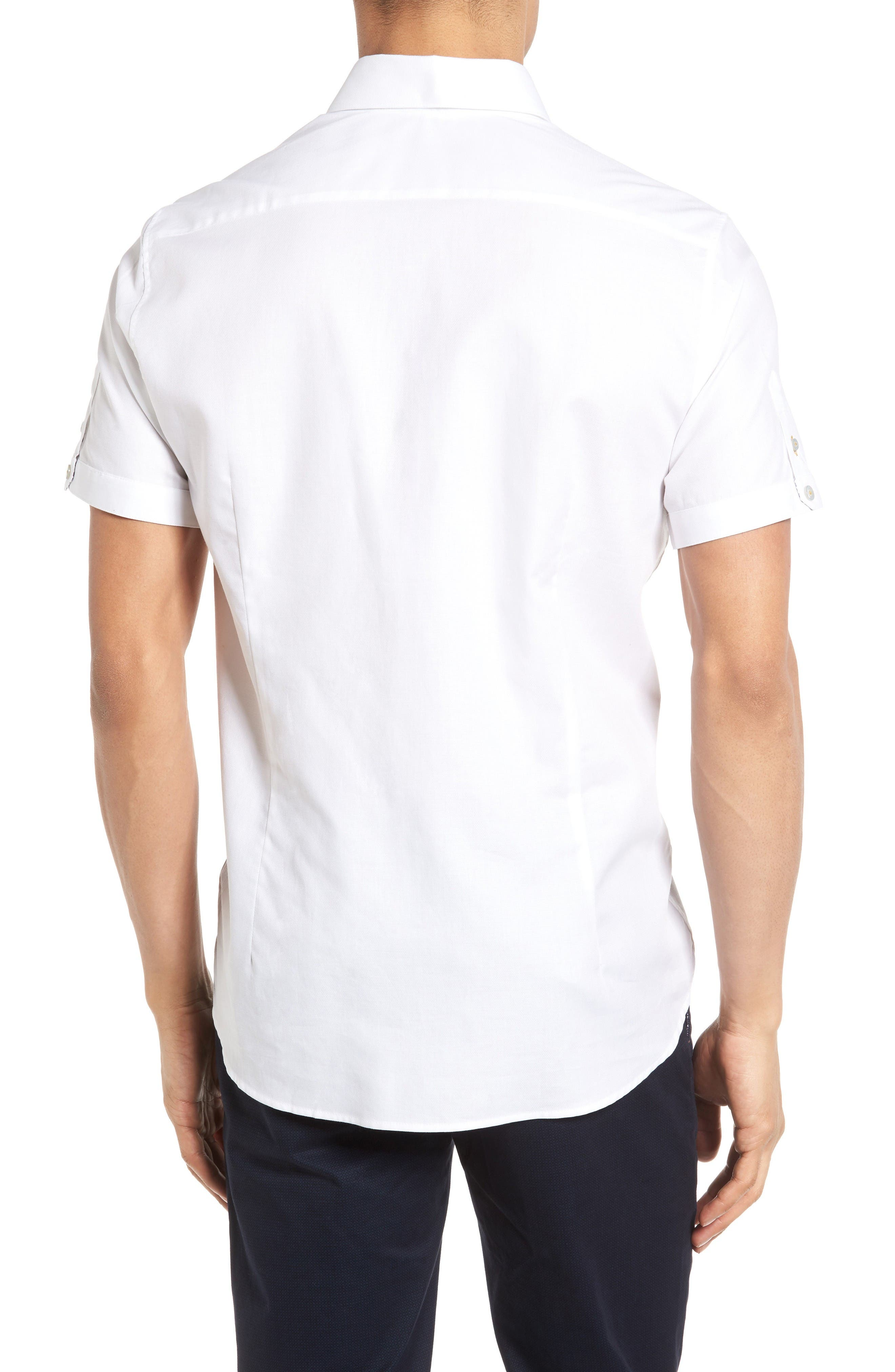 Alternate Image 2  - Ted Baker London Wooey Extra Slim Fit Mini Texture Sport Shirt