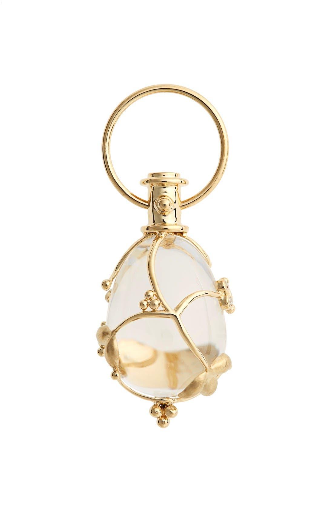 TEMPLE ST CLAIR Temple St. Clair Vine Diamond & Rock Crystal Amulet