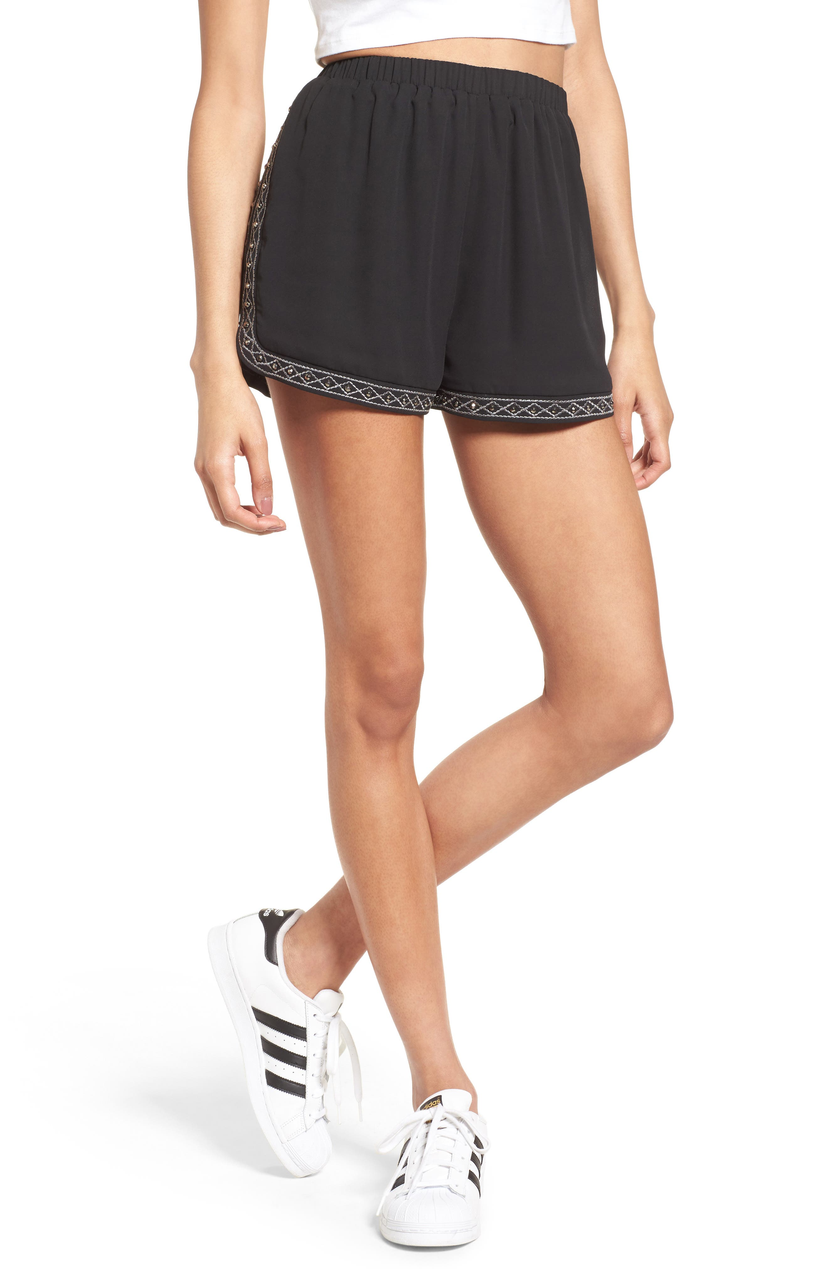 Soprano Studded & Embroidered Shorts