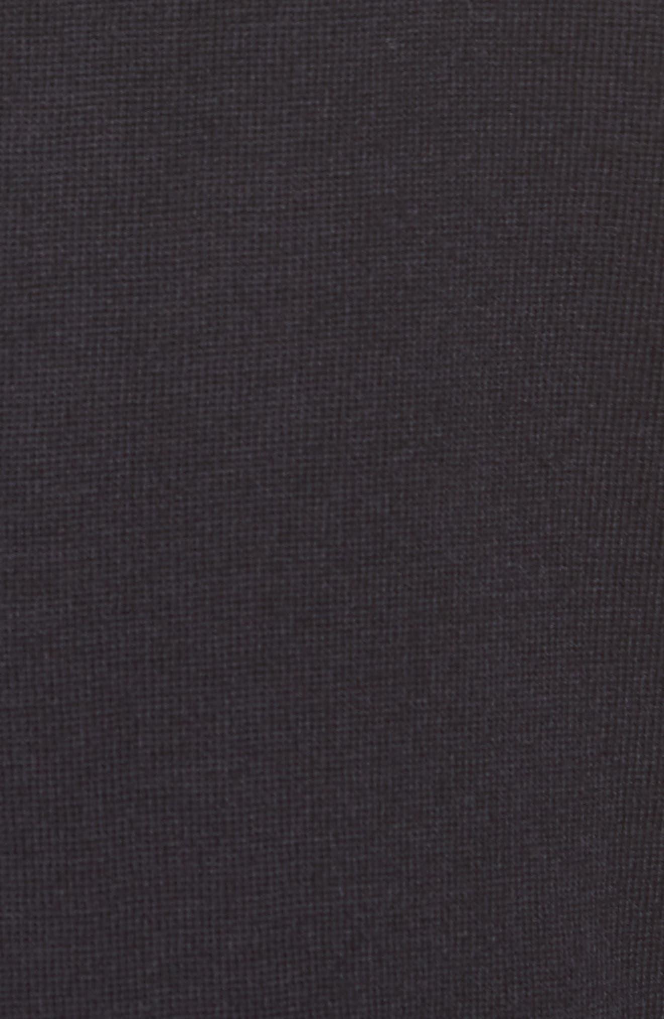 Madeline Merino Wool Cardigan,                             Alternate thumbnail 5, color,                             Medium Navy