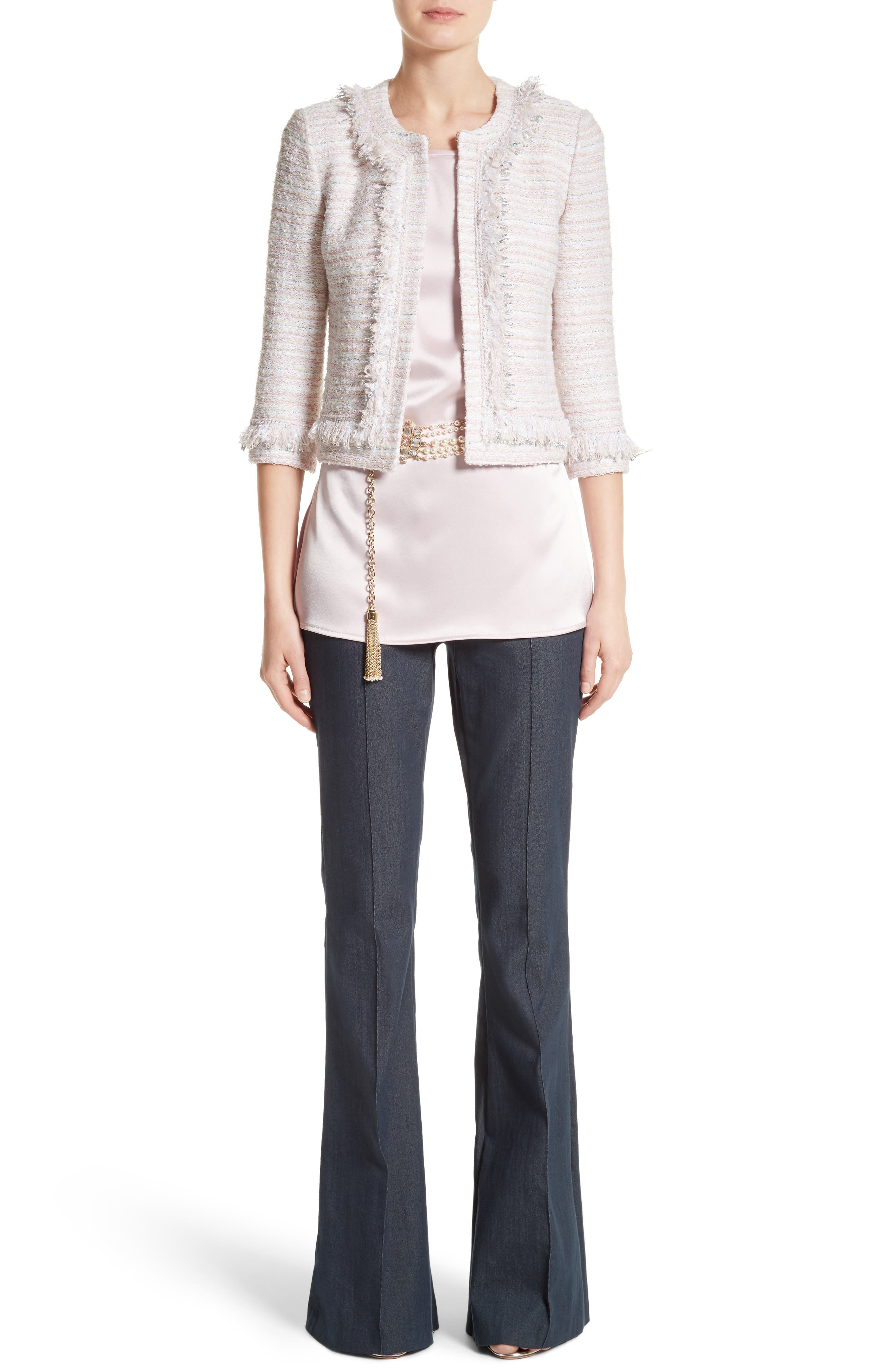 Alternate Image 7  - St. John Collection Padmesh Tweed Knit Fringe Jacket