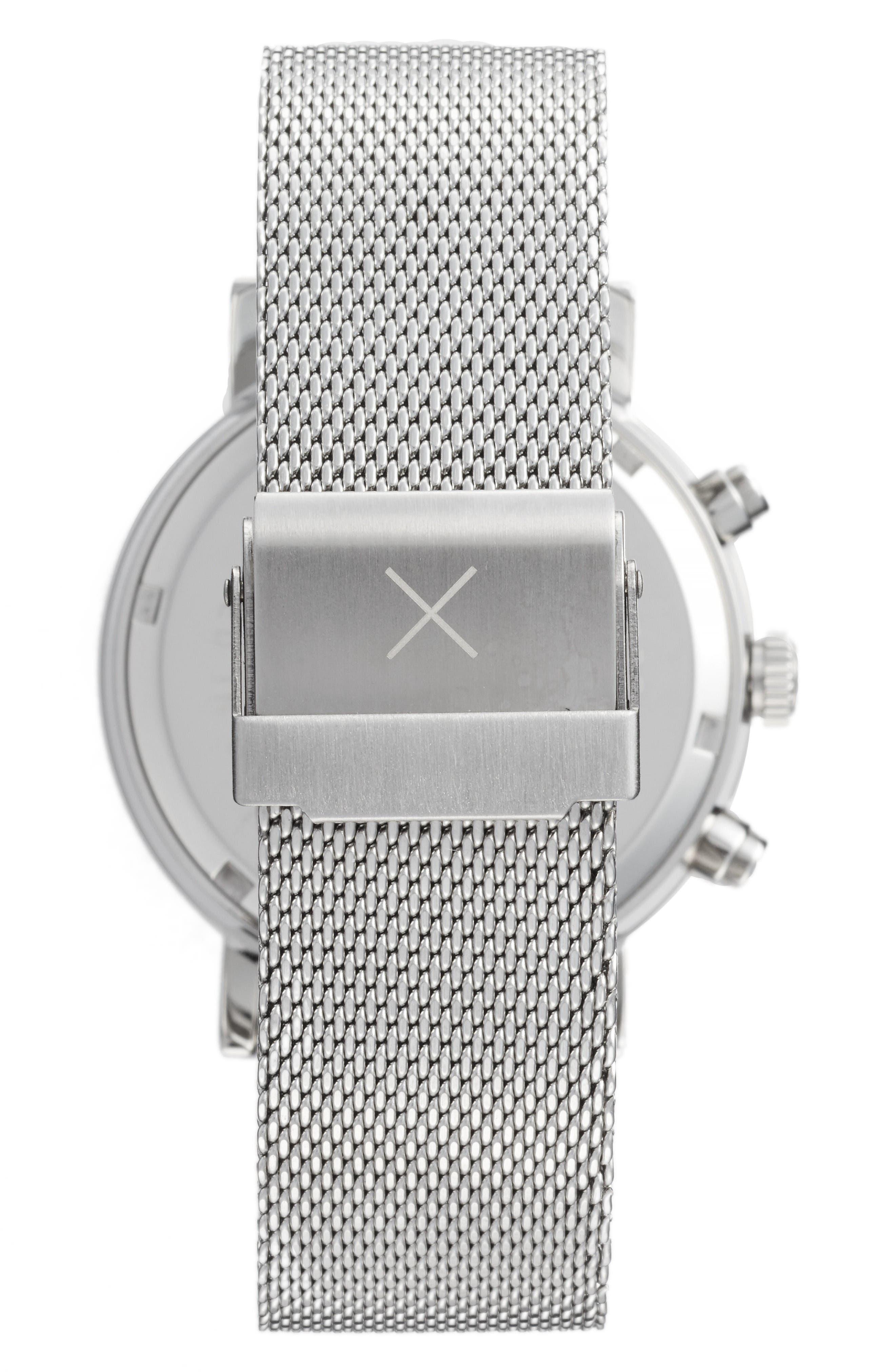 Alternate Image 2  - Throne 2.0 Chronograph Mesh Strap Watch, 40mm