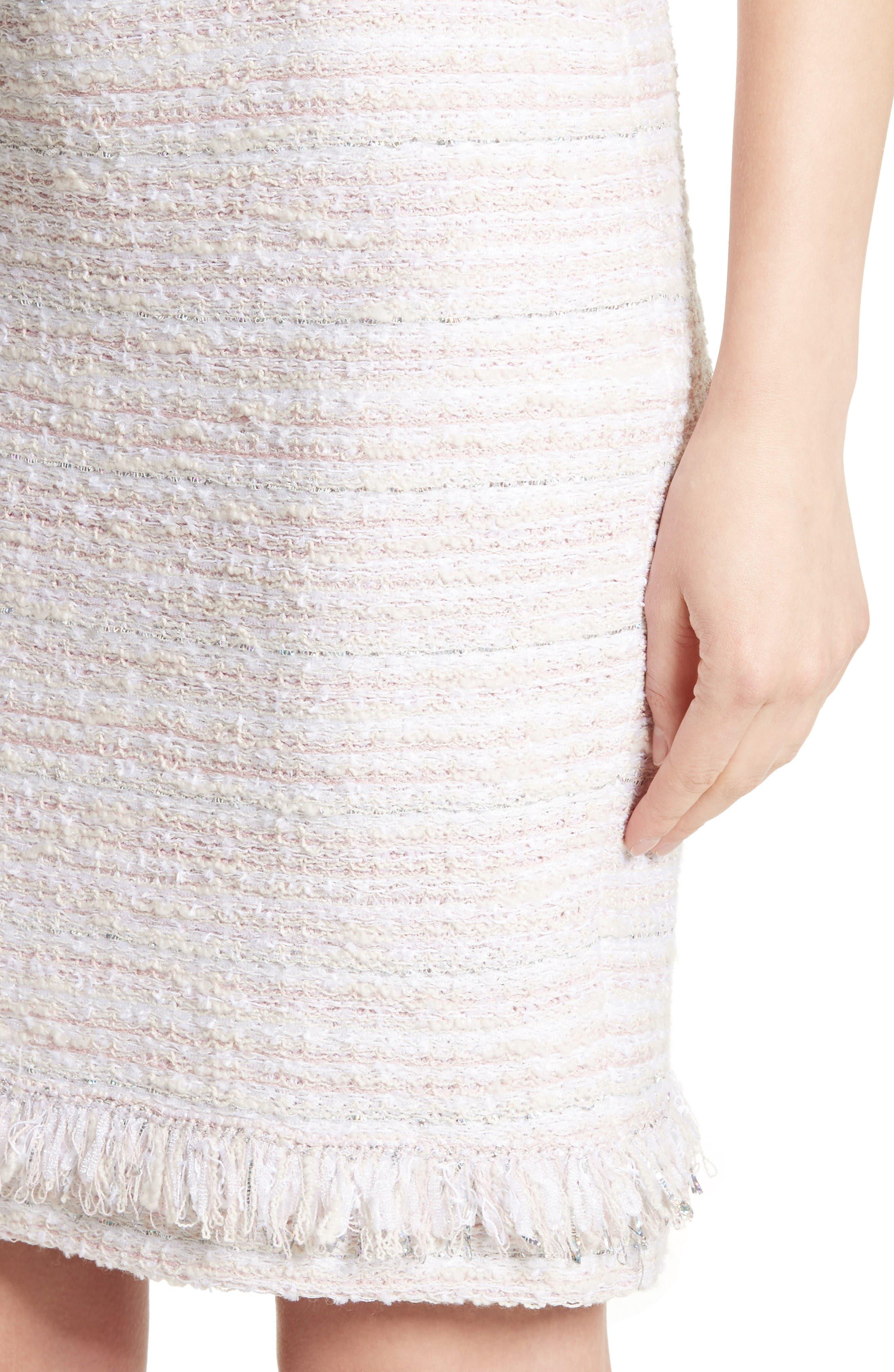 Padmesh Tweed Knit Skirt,                             Alternate thumbnail 4, color,                             Petal Multi