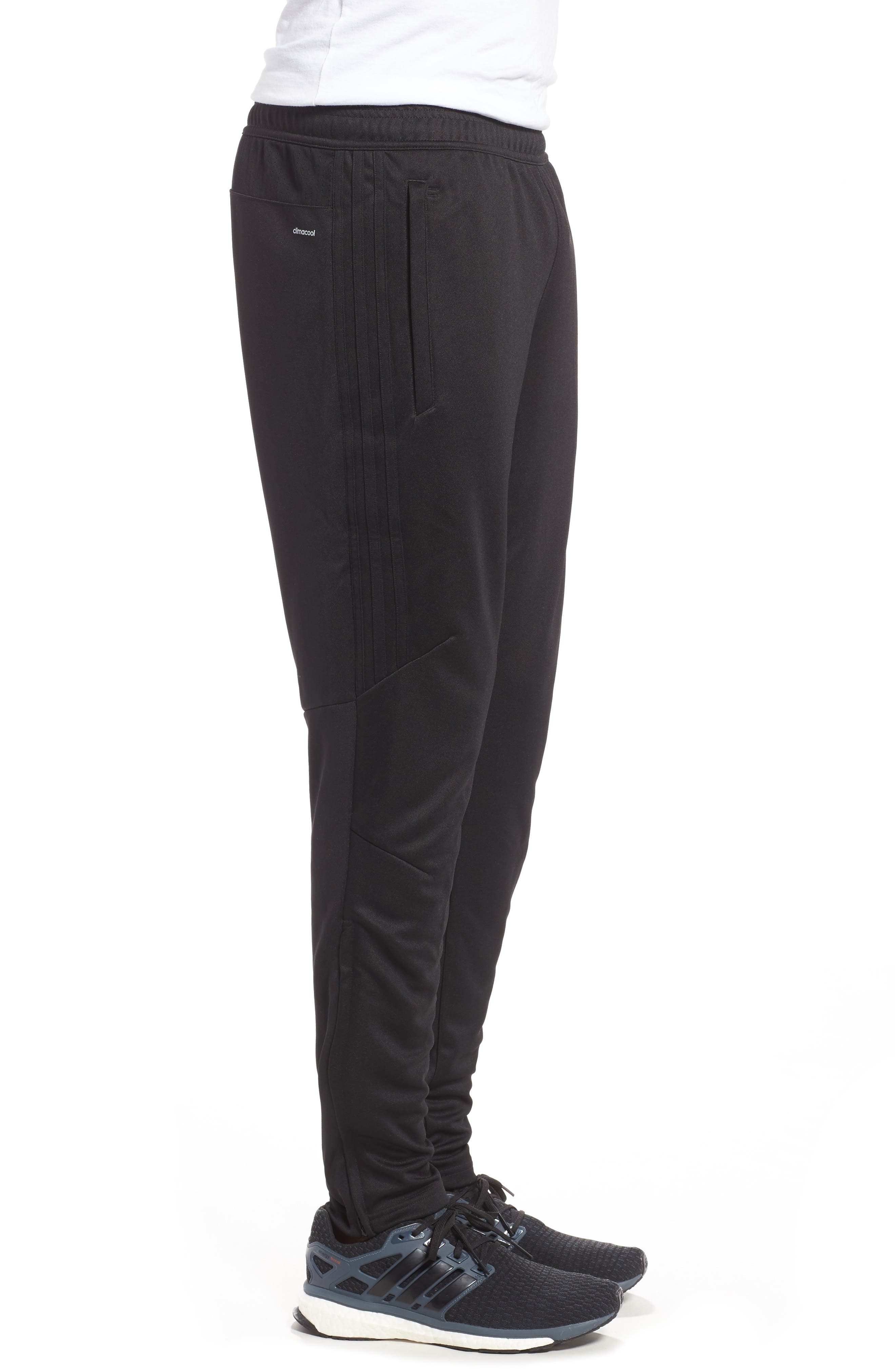 Tiro 17 Training Pants,                             Alternate thumbnail 3, color,                             Black/ White