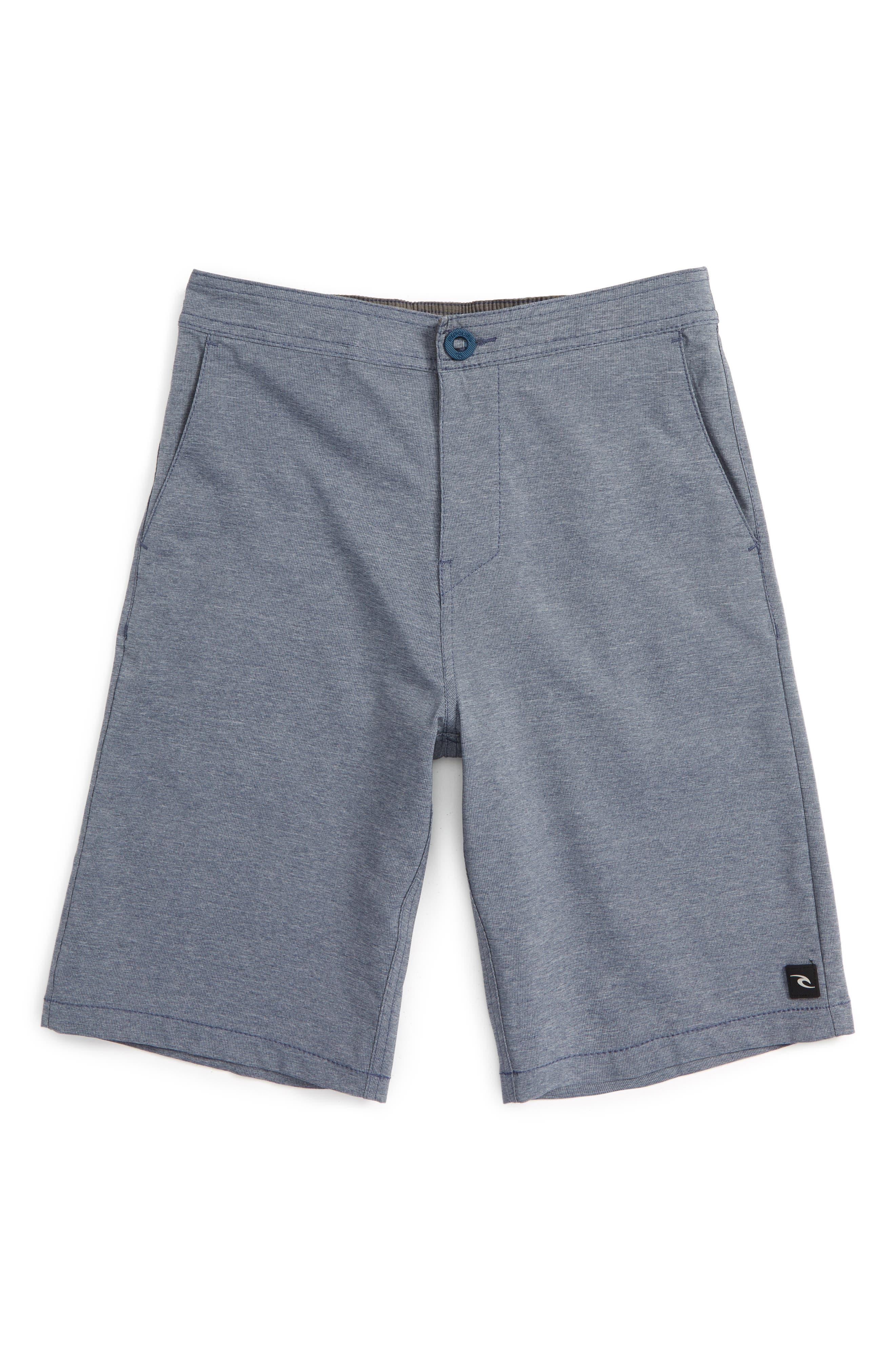 Omaha Hybrid Board Shorts,                         Main,                         color, Navy