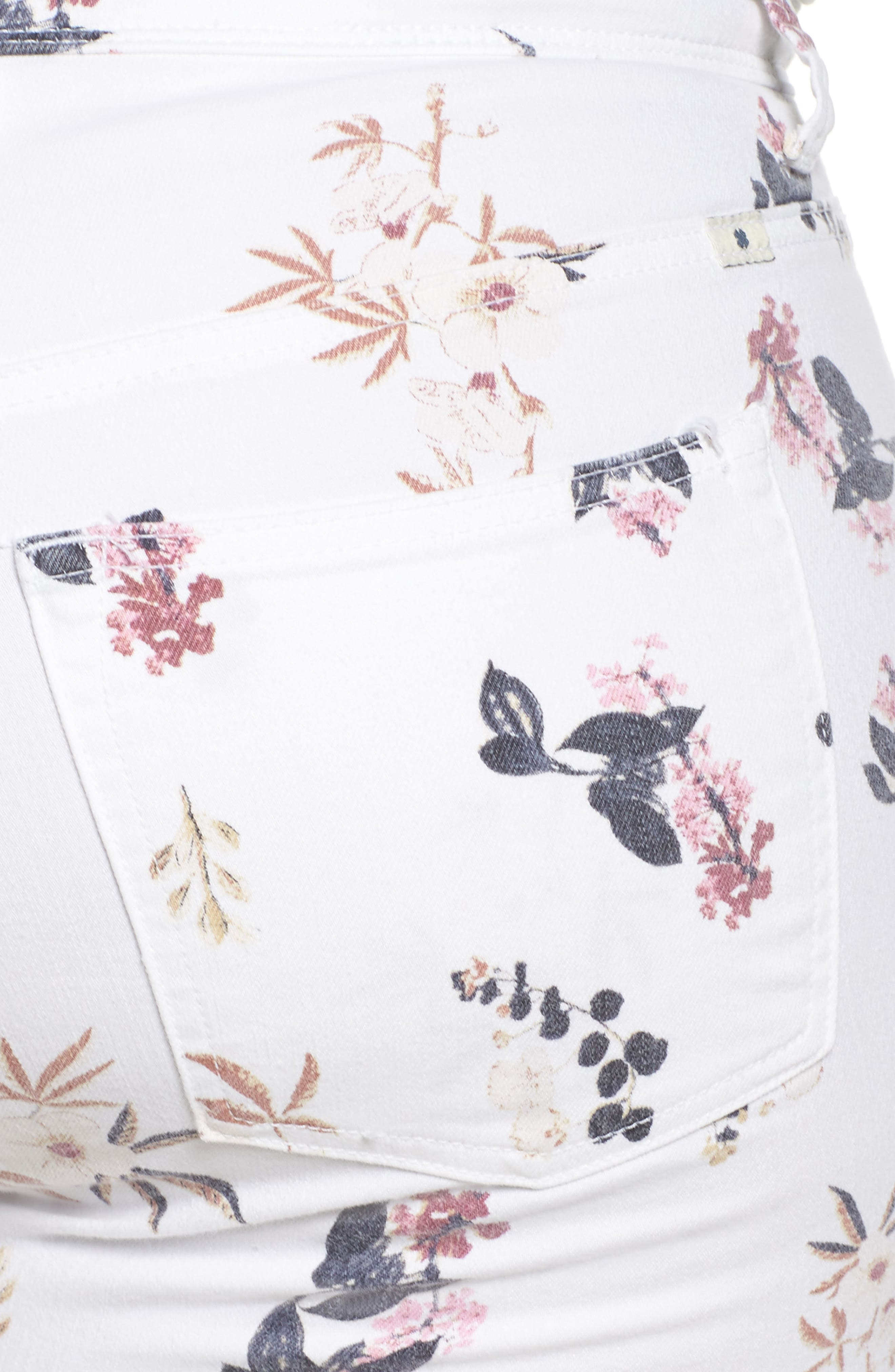 Alternate Image 4  - Lucky Brand Ginger Floral Print Skinny Jeans (Plus Size)