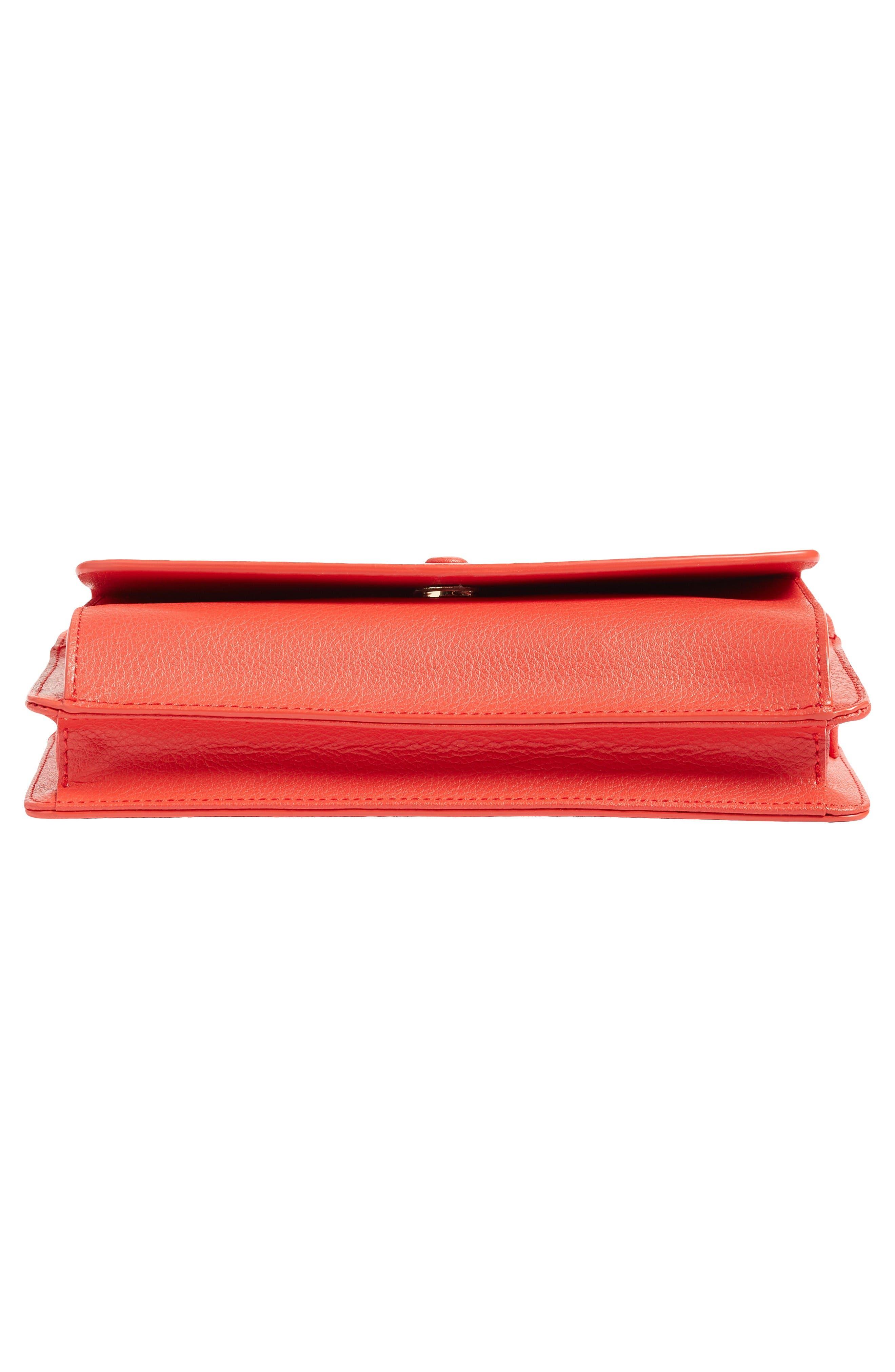 Alternate Image 6  - Halogen® Convertible Leather Crossbody Bag