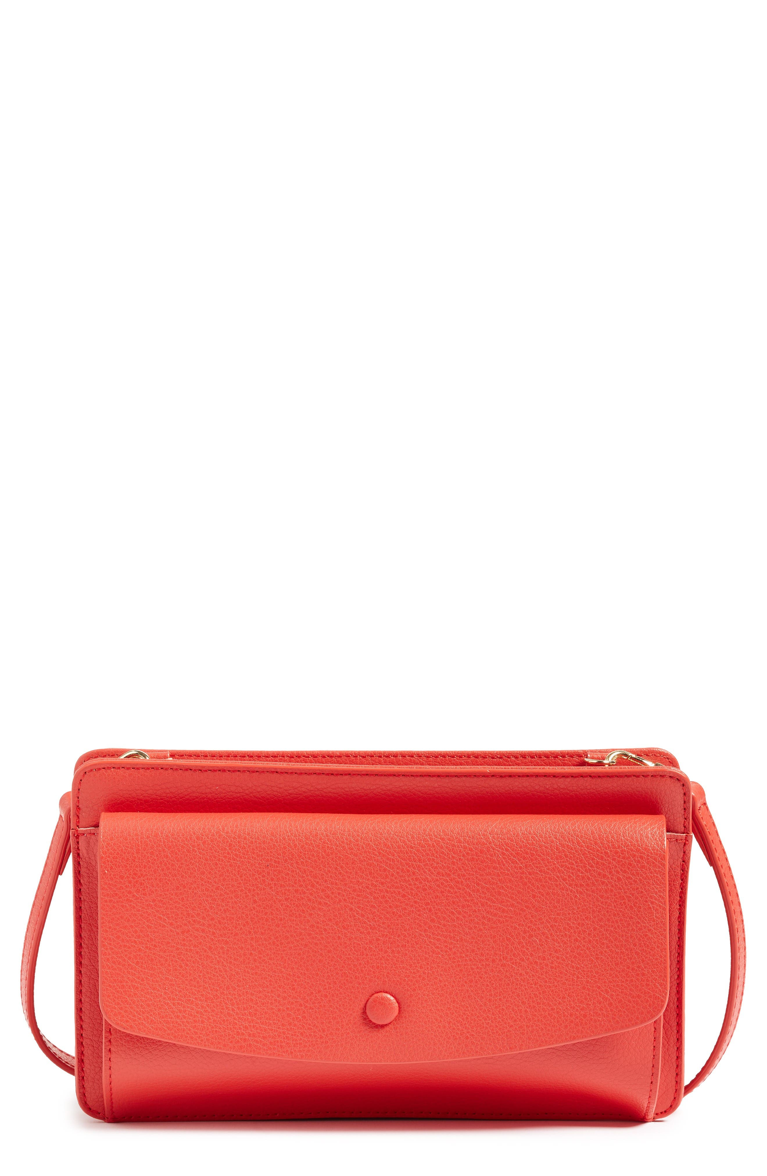 HALOGEN<SUP>®</SUP> Convertible Leather Crossbody Bag
