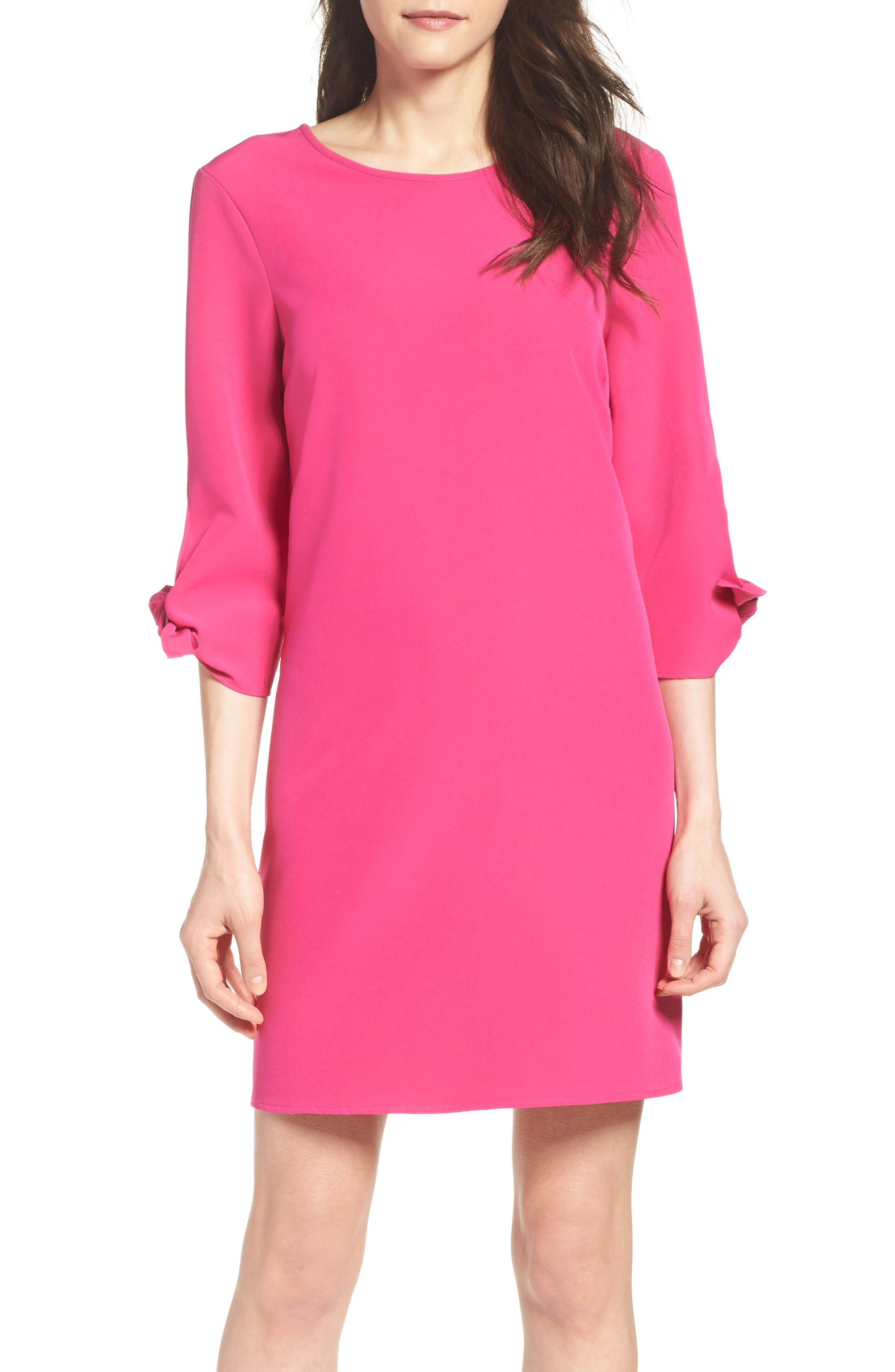 Main Image - Charles Henry Woven Shift Dress