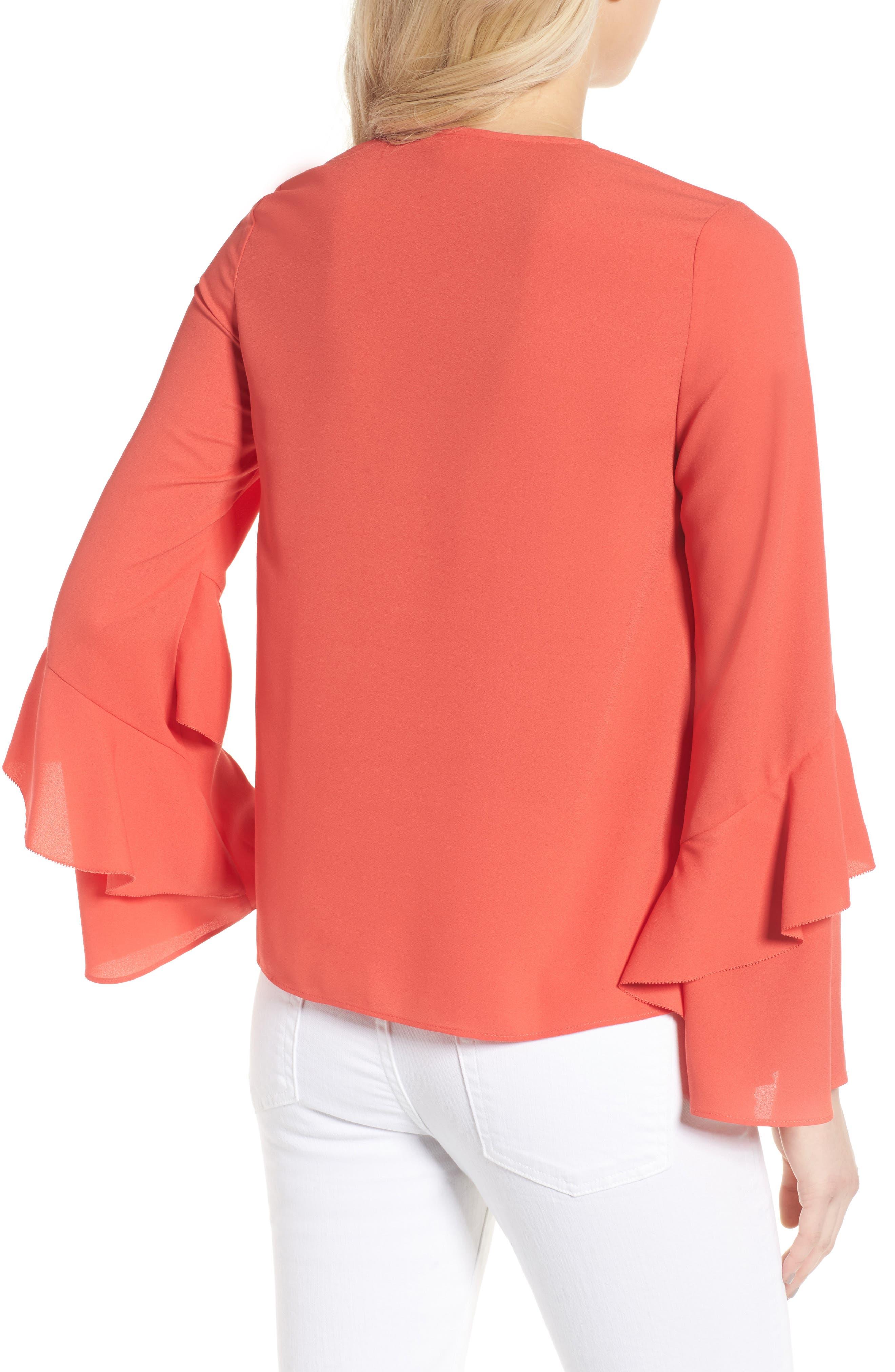 Agatha Ruffle Blouse,                             Alternate thumbnail 2, color,                             Orange