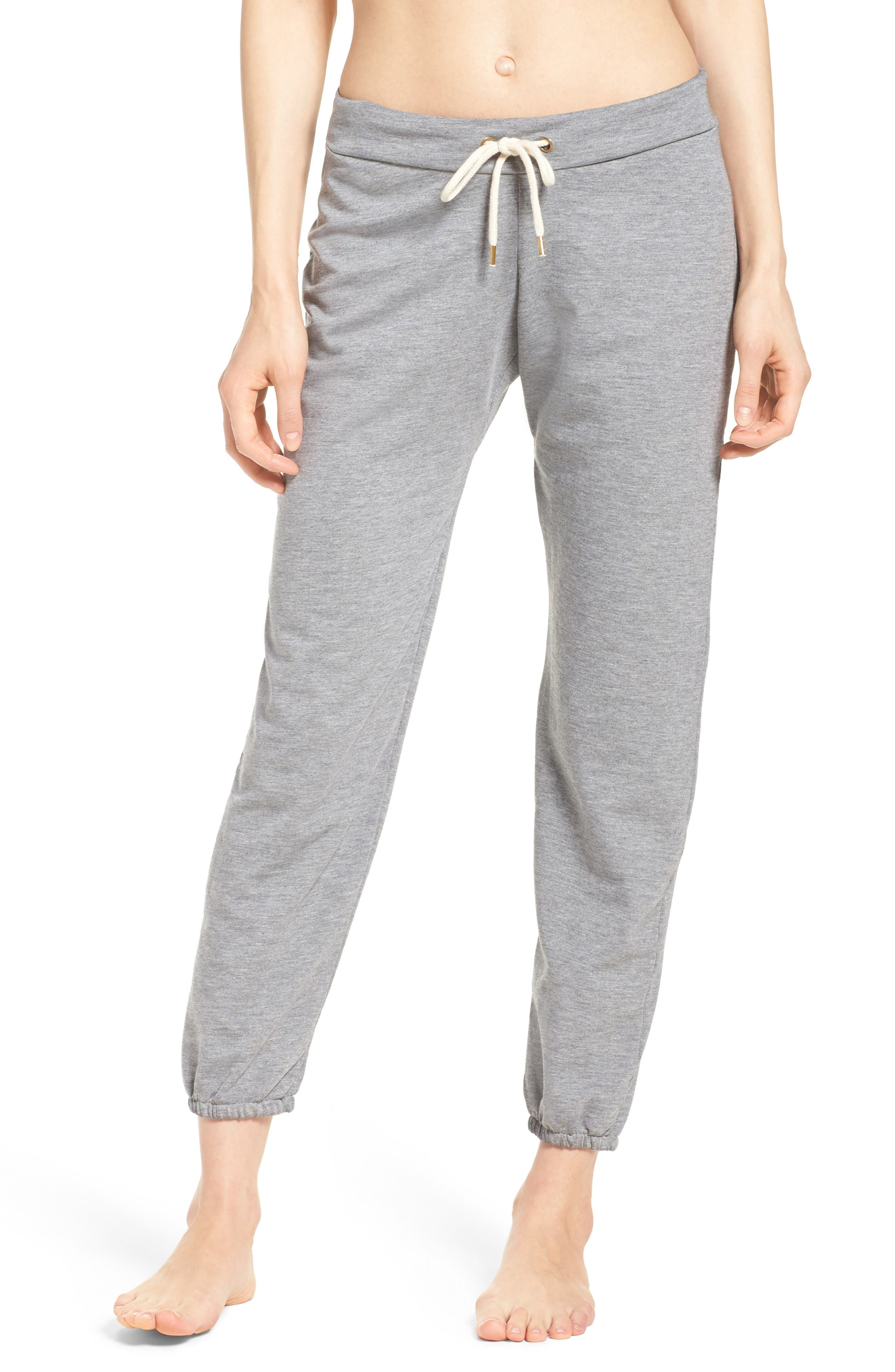 French Terry Lounge Pants,                         Main,                         color, Heather Grey