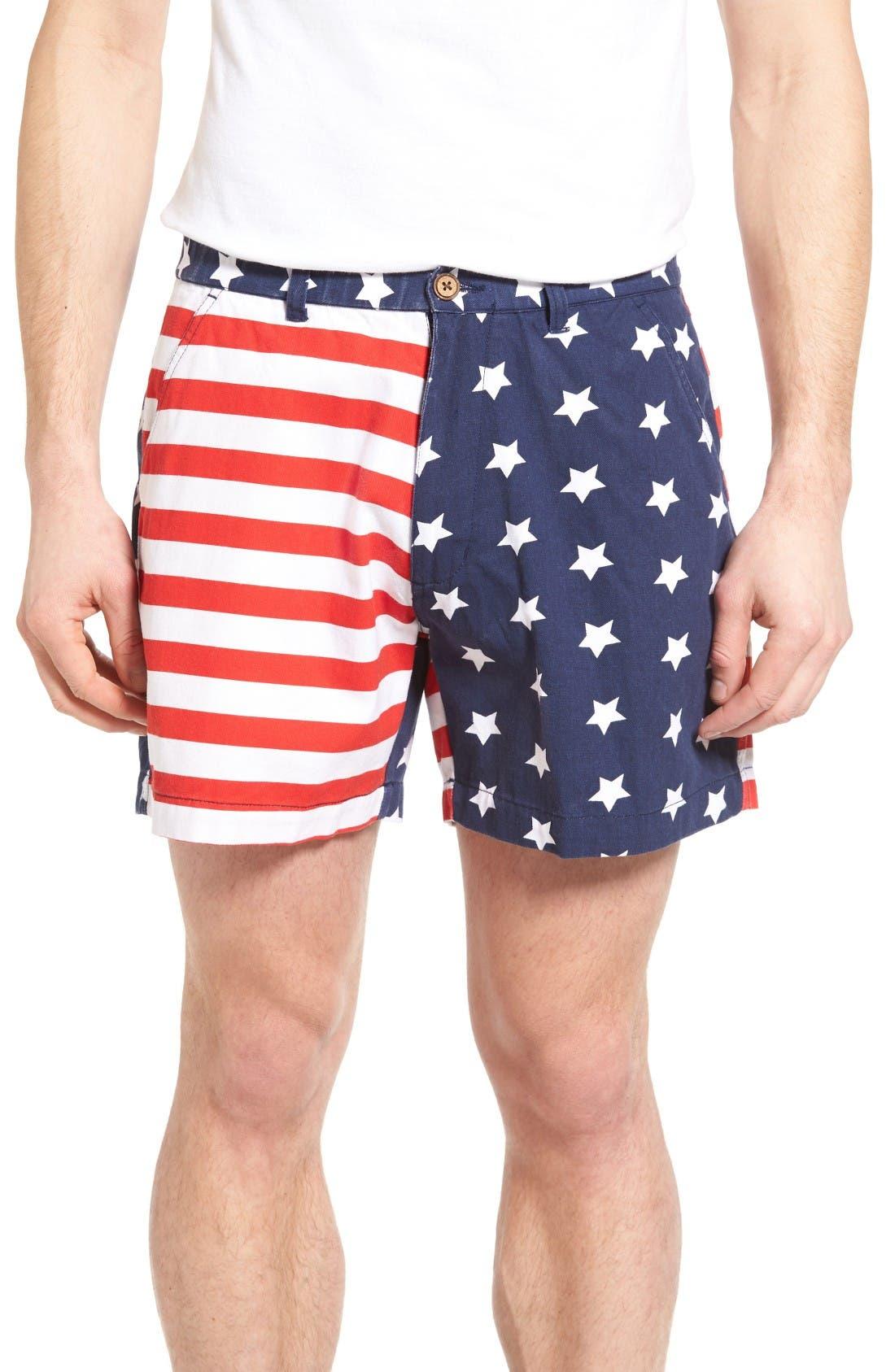 Snappers Americana Shorts,                         Main,                         color, Americana