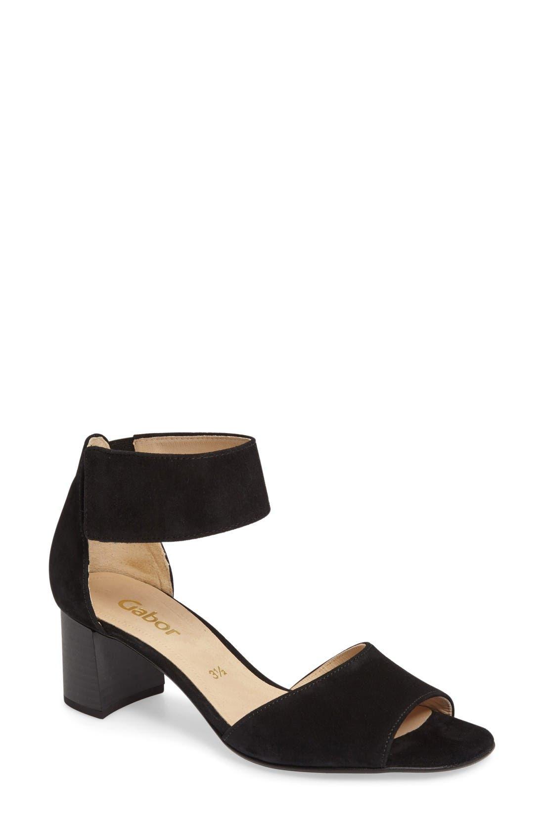 Alternate Image 1 Selected - Gabor Ankle Strap Sandal (Women)