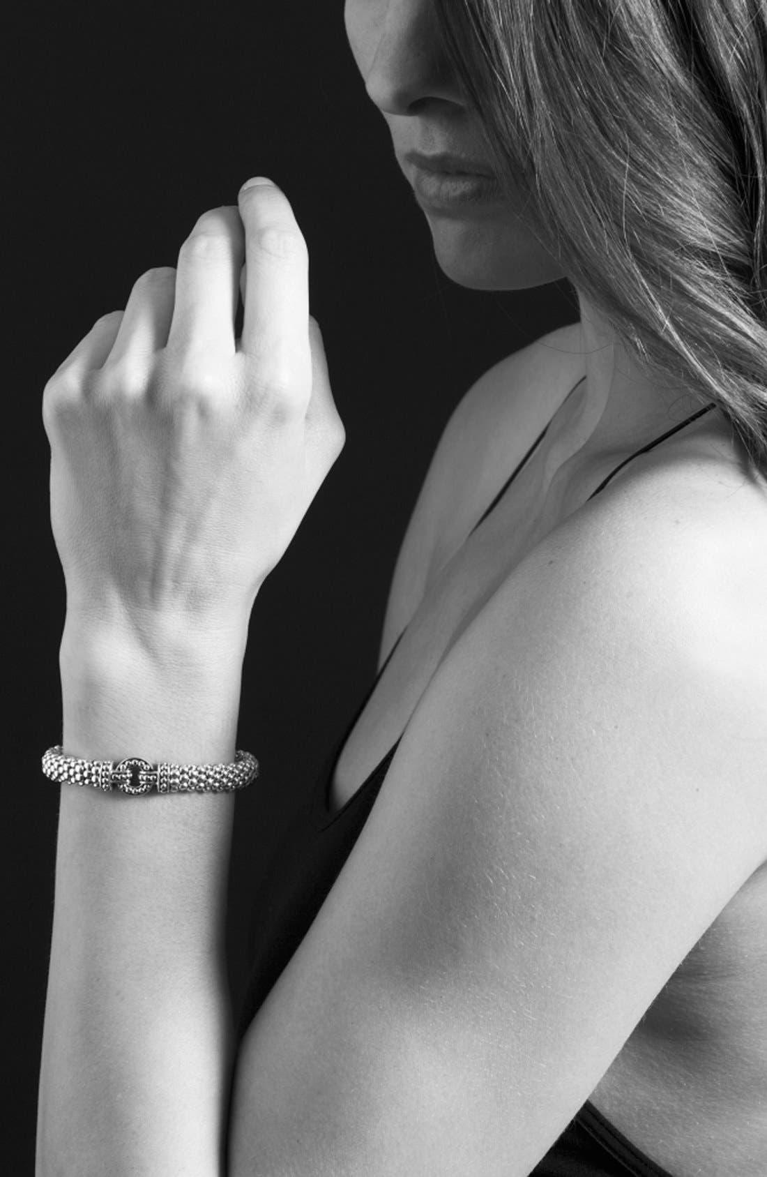 'Enso' Two-Tone Rope Caviar Bracelet,                             Alternate thumbnail 4, color,                             Silver/ Gold