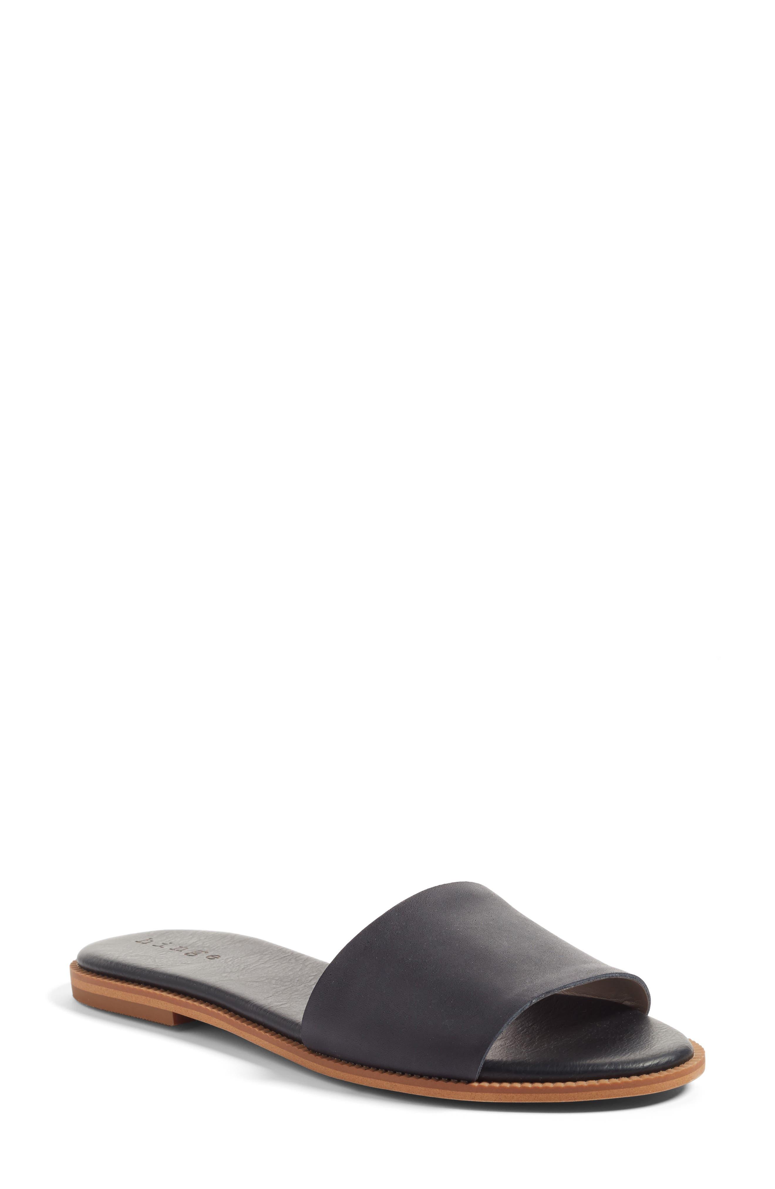 Hinge 'Mere' Flat Slide Sandal (Women)