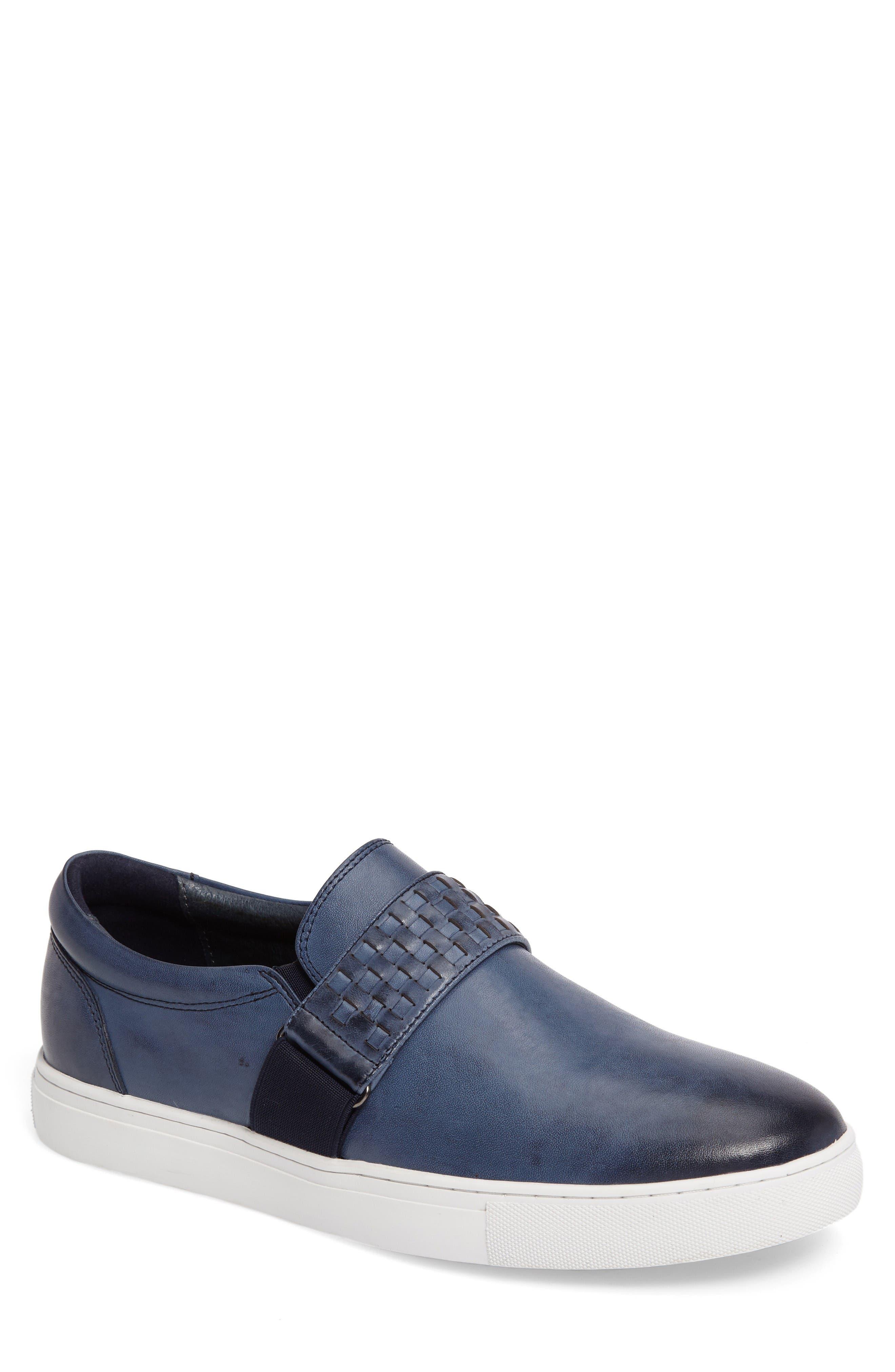 Van Gogh Slip-On Sneaker,                         Main,                         color, Navy Leather