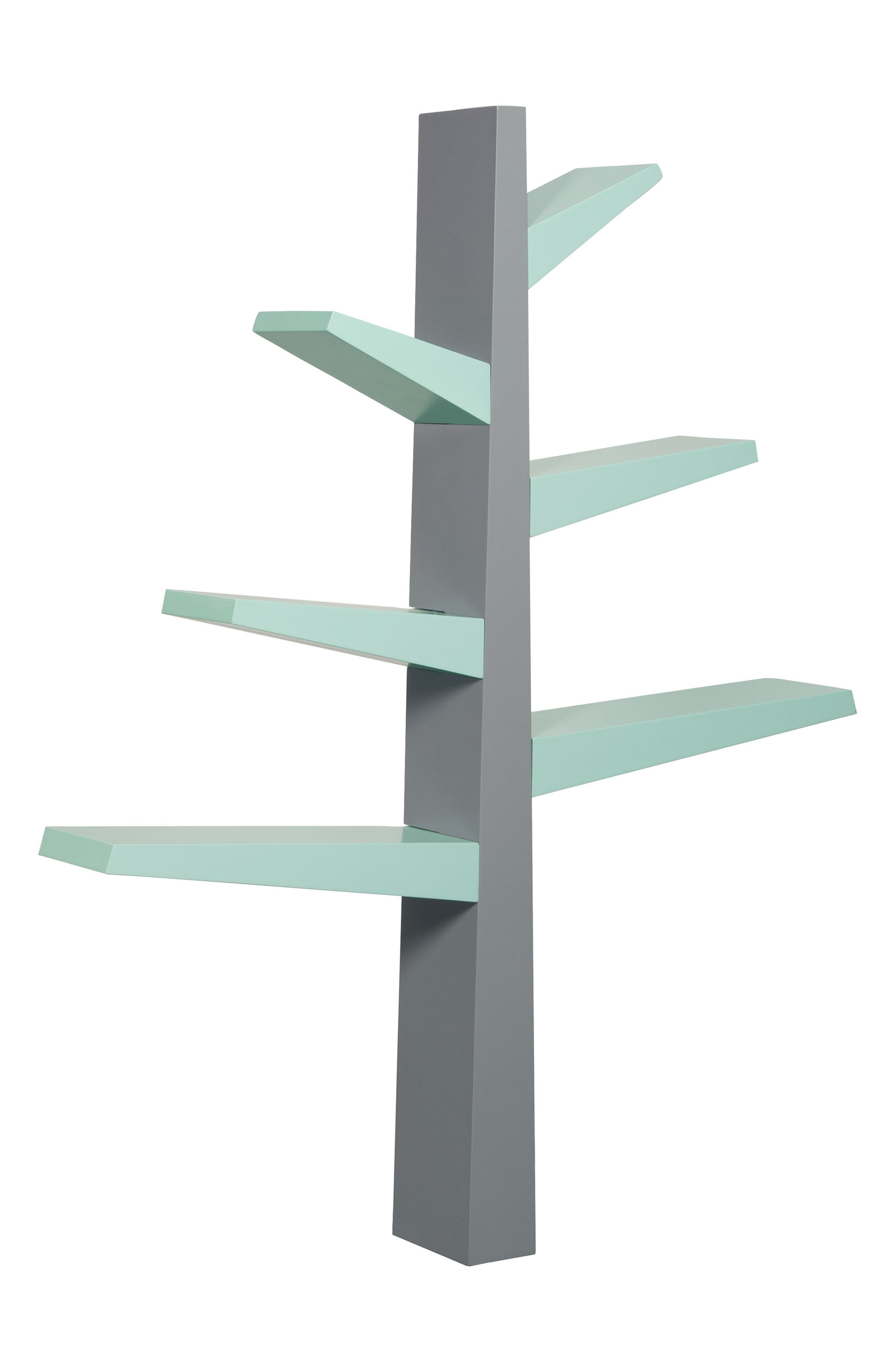 'Spruce Tree' Bookcase,                             Alternate thumbnail 2, color,                             Grey/ Mint