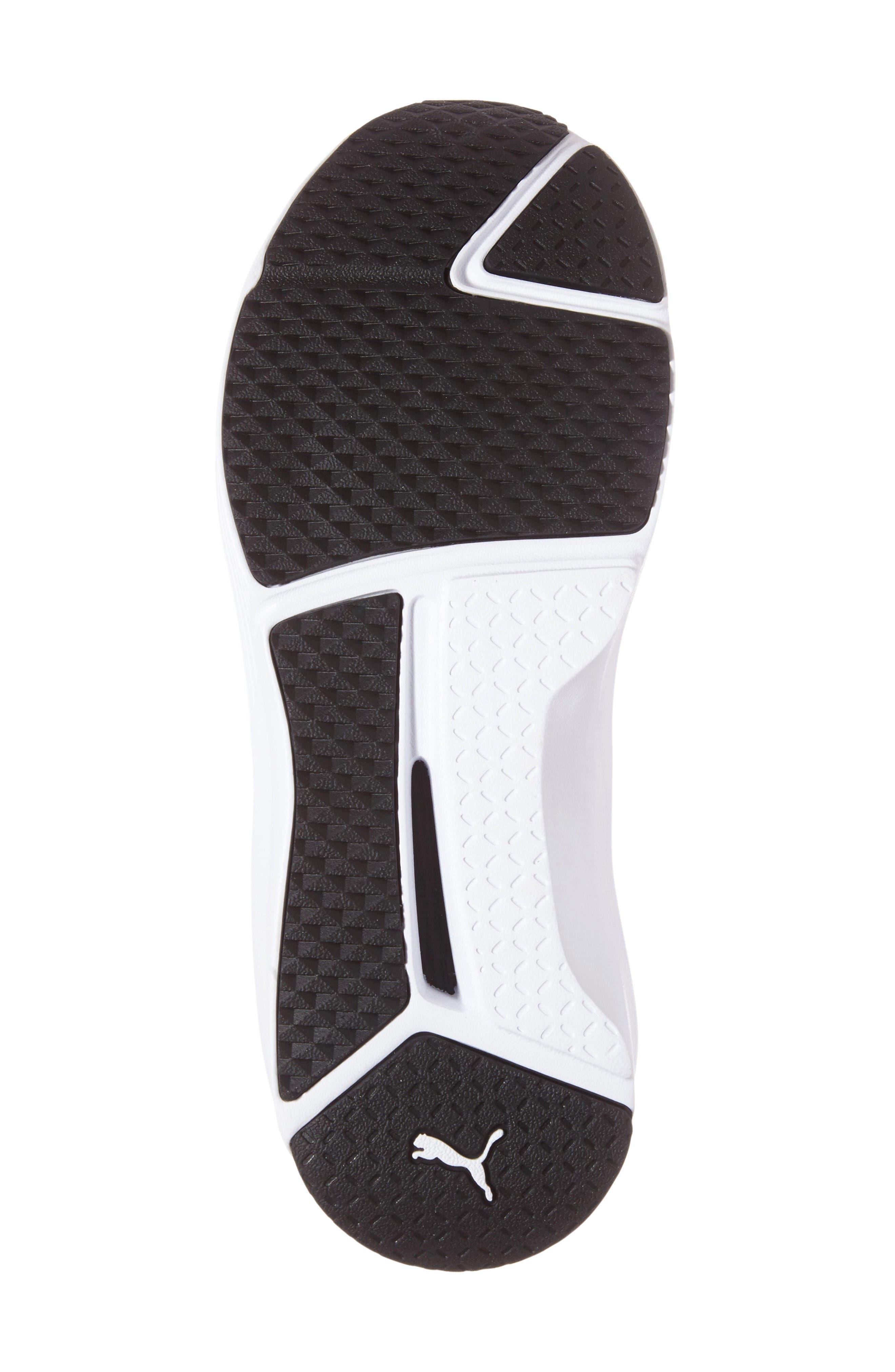 Fierce Strap Training Sneaker,                             Alternate thumbnail 4, color,                             Black/ White