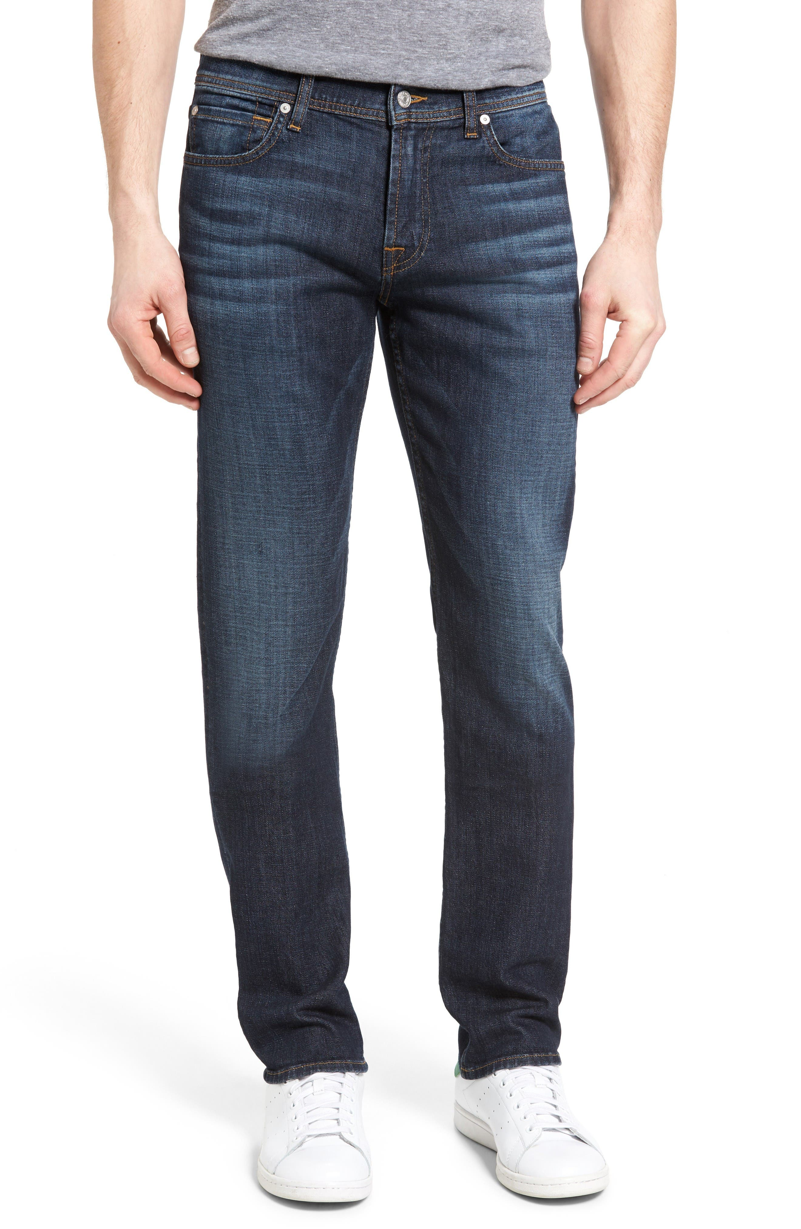 Standard Straight Fit Jeans,                         Main,                         color, Foster