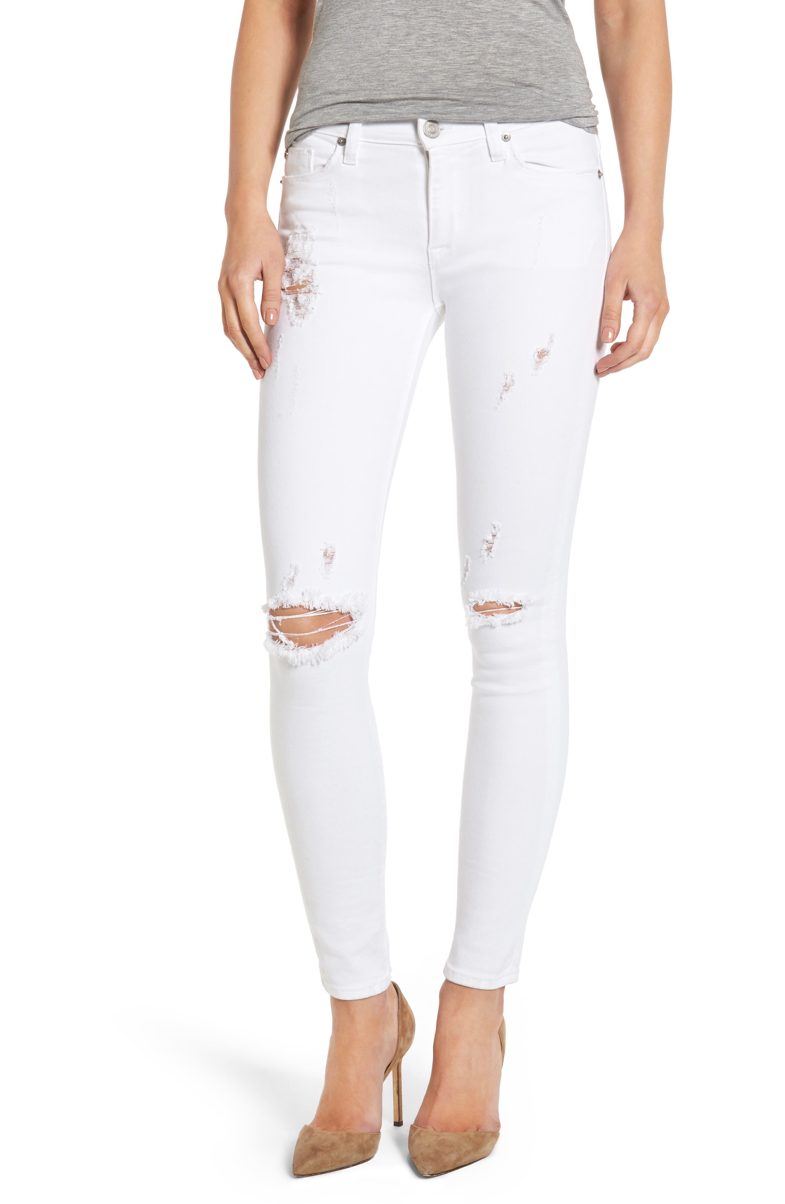 Hudson Nico Ripped Ankle Super Skinny Jeans (Strife)