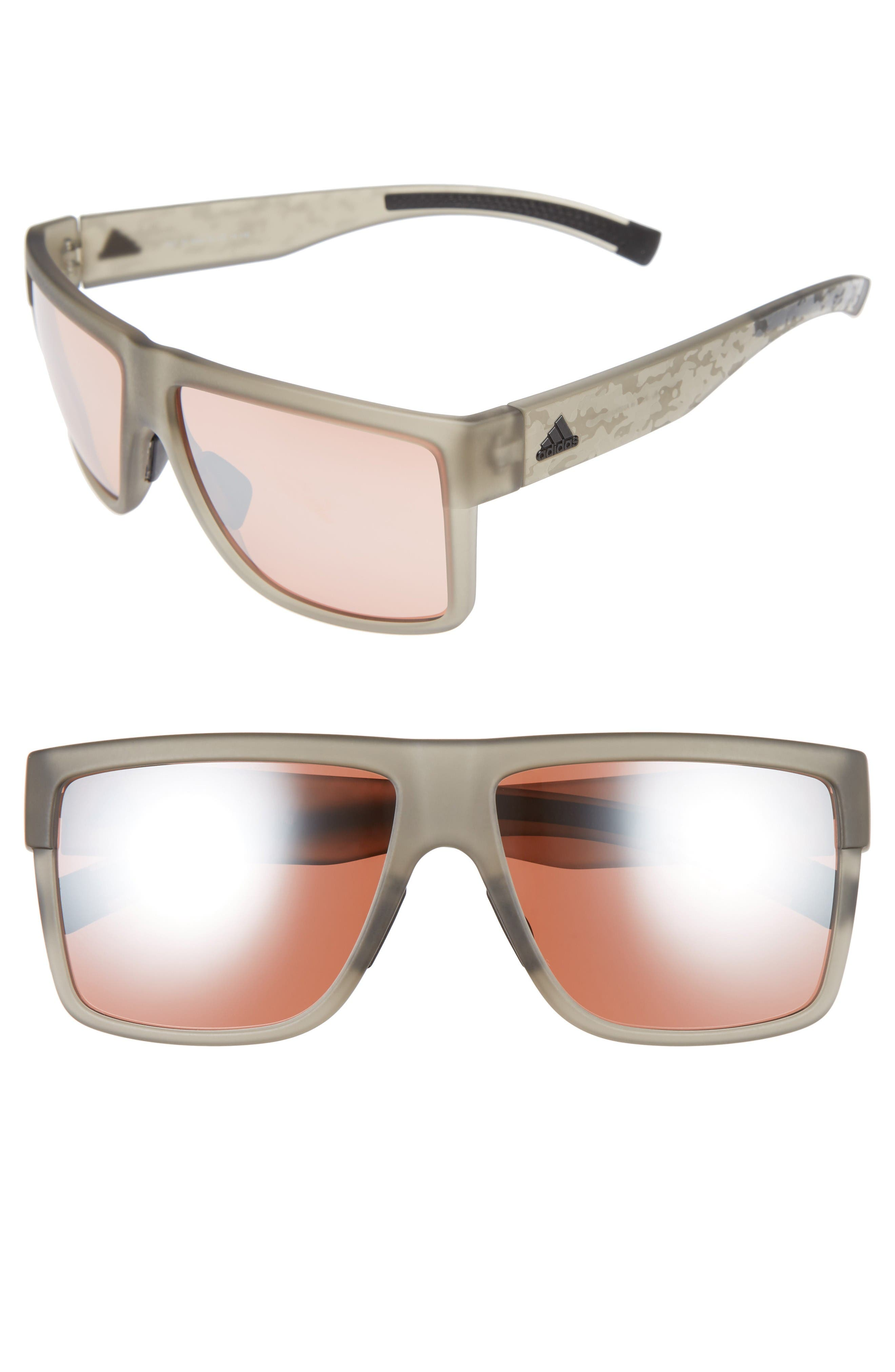 3Matic 60mm Sunglasses,                         Main,                         color, Grey Camo Print/ Taupe