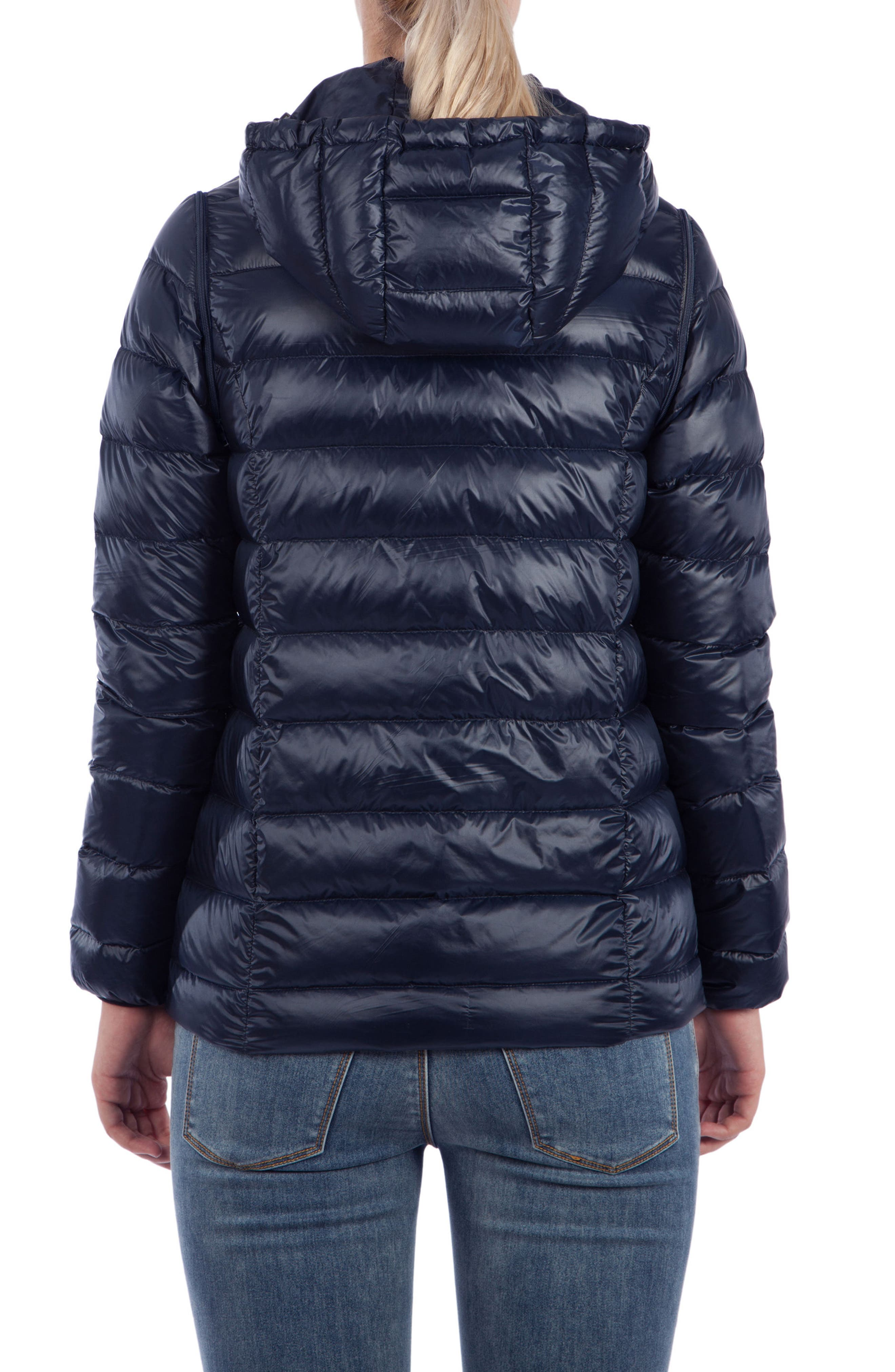 Alternate Image 2  - Modern Eternity Lightweight Puffer Convertible Maternity Jacket