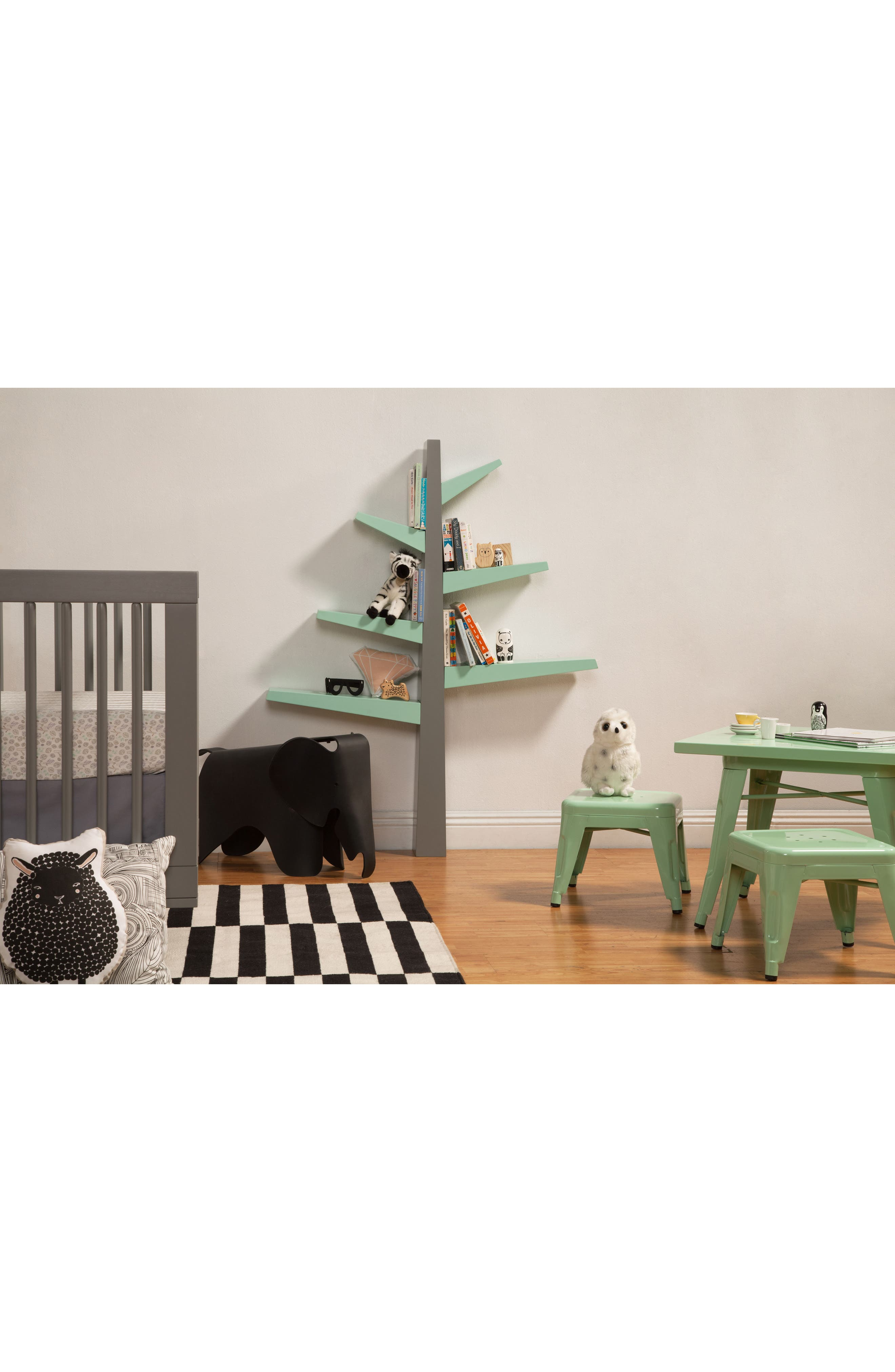 'Spruce Tree' Bookcase,                             Alternate thumbnail 3, color,                             Grey/ Mint
