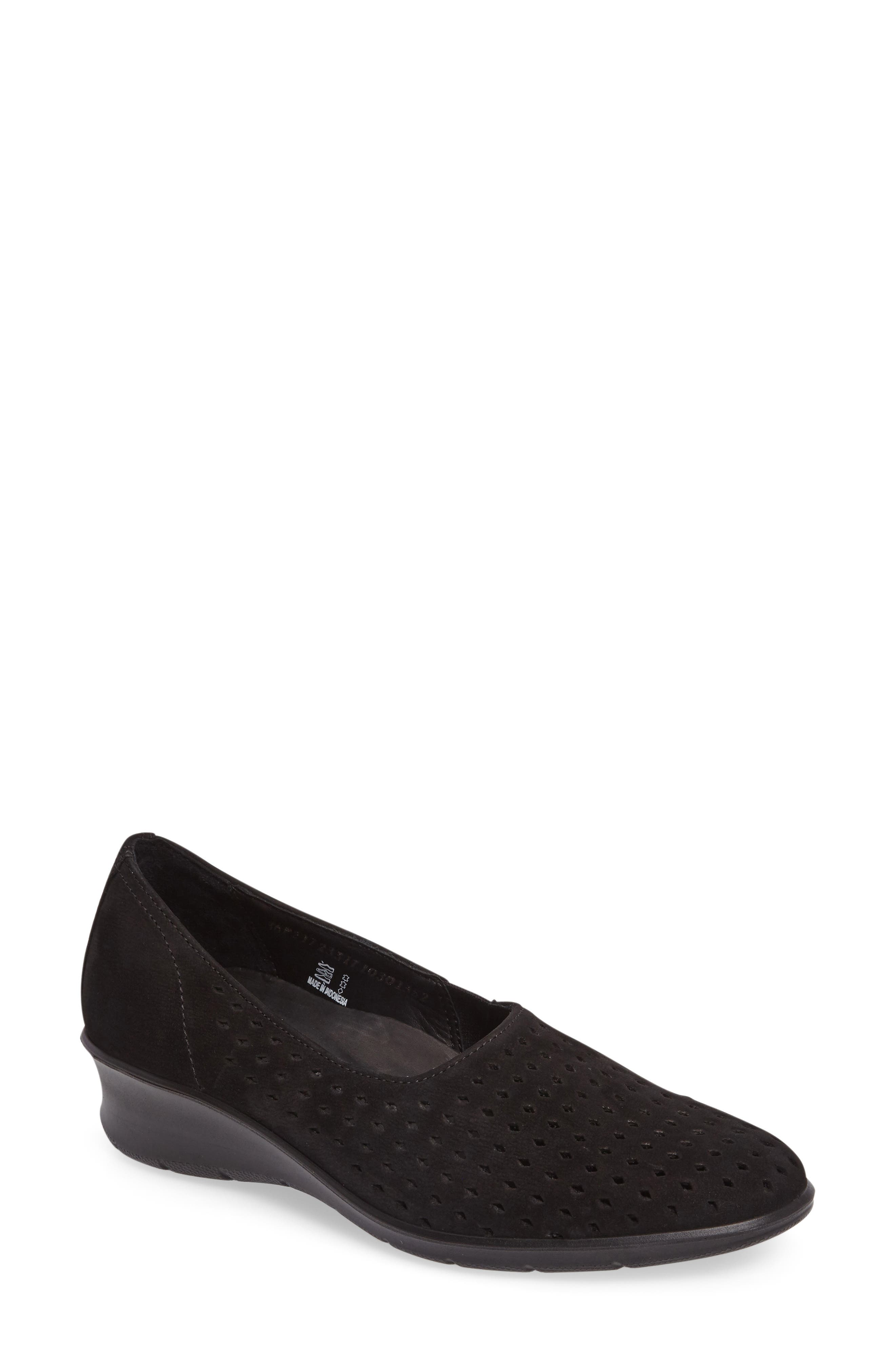 Felicia Summer Loafer,                             Main thumbnail 1, color,                             Black Leather