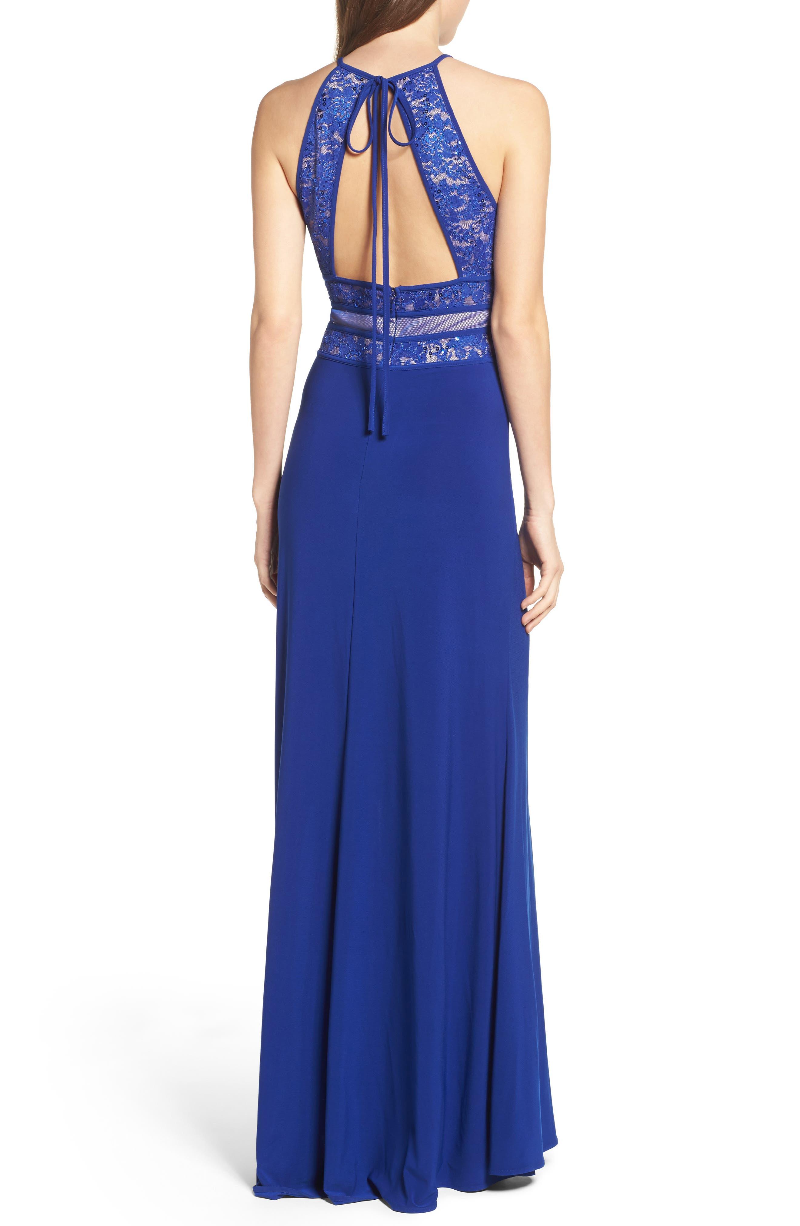 Alternate Image 2  - Morgan & Co. Embellished Gown