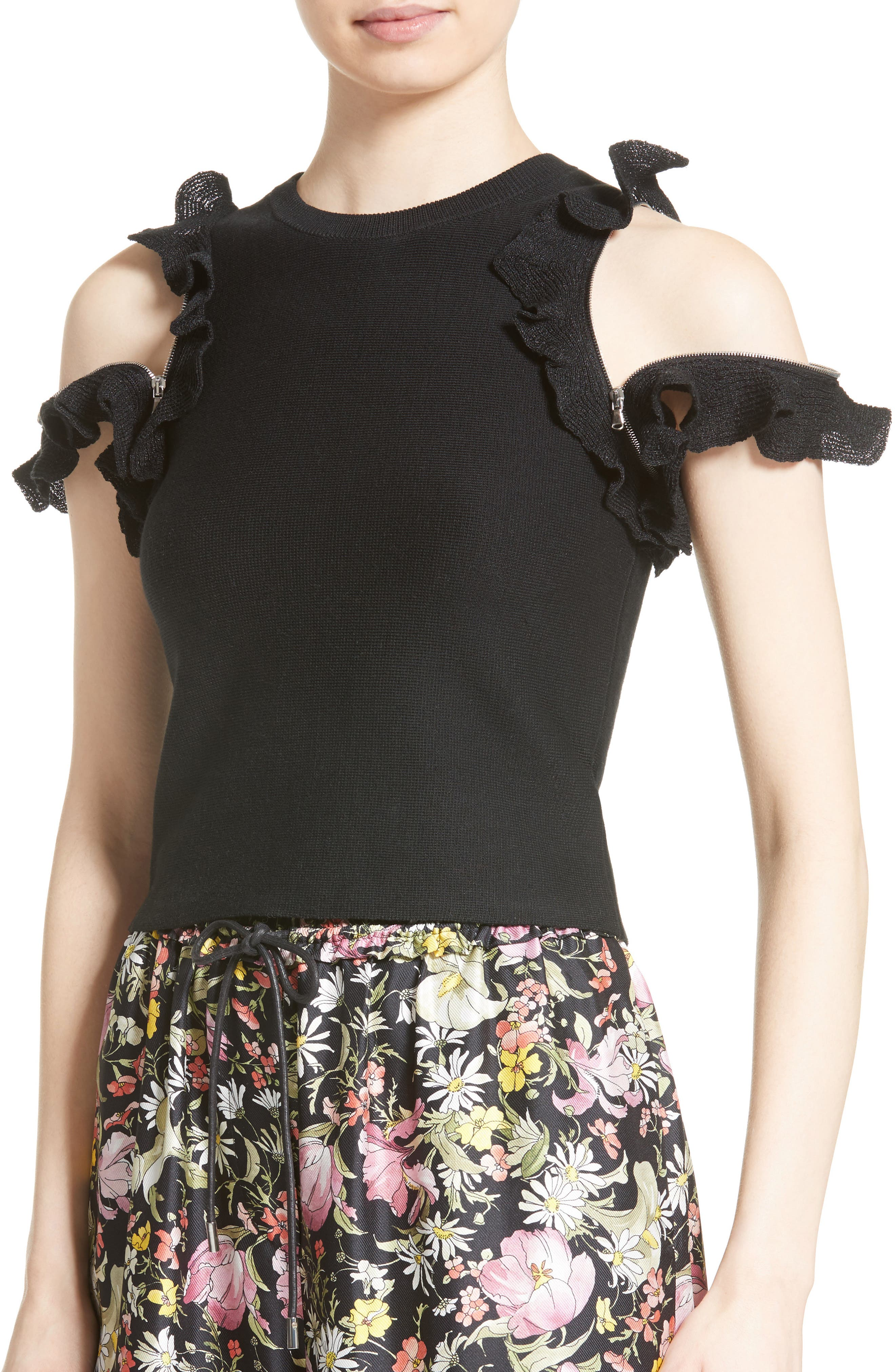 Alternate Image 5  - 3.1 Phillip Lim Zipper Detail Ruffle Top