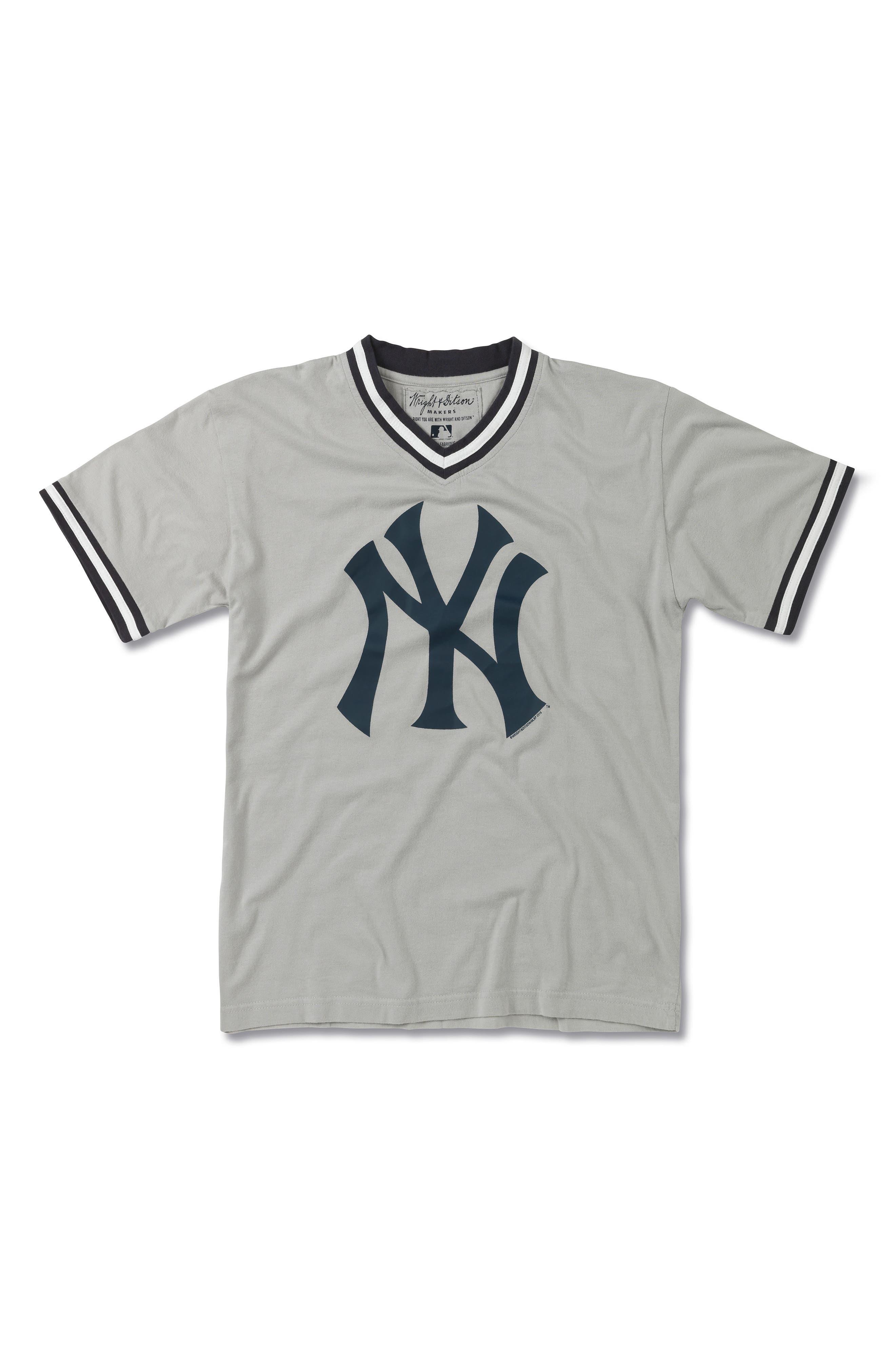 New York Yankees T-Shirt,                             Main thumbnail 1, color,                             Cool Grey