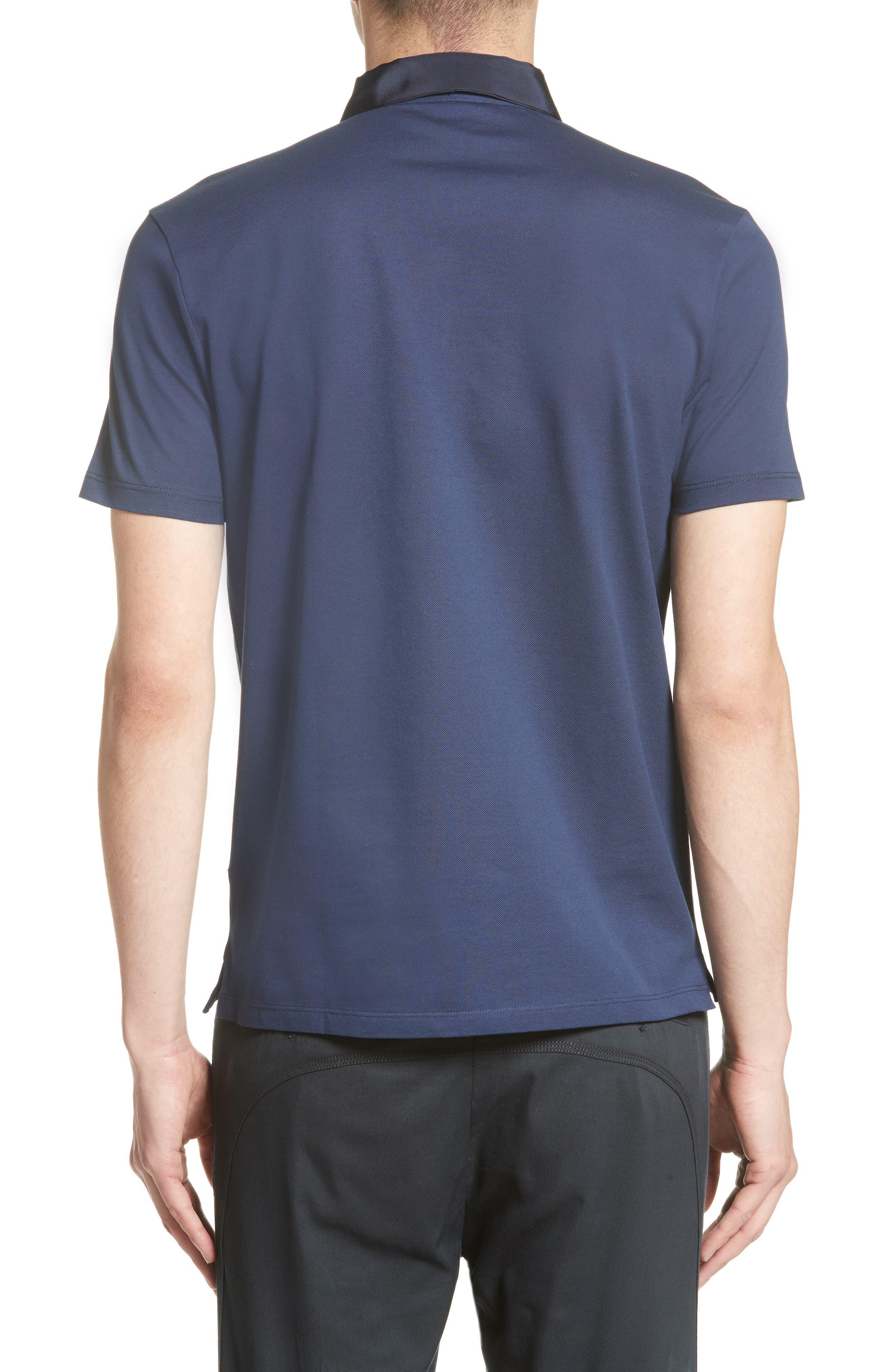 Alternate Image 2  - Lanvin Grosgrain Collar Polo