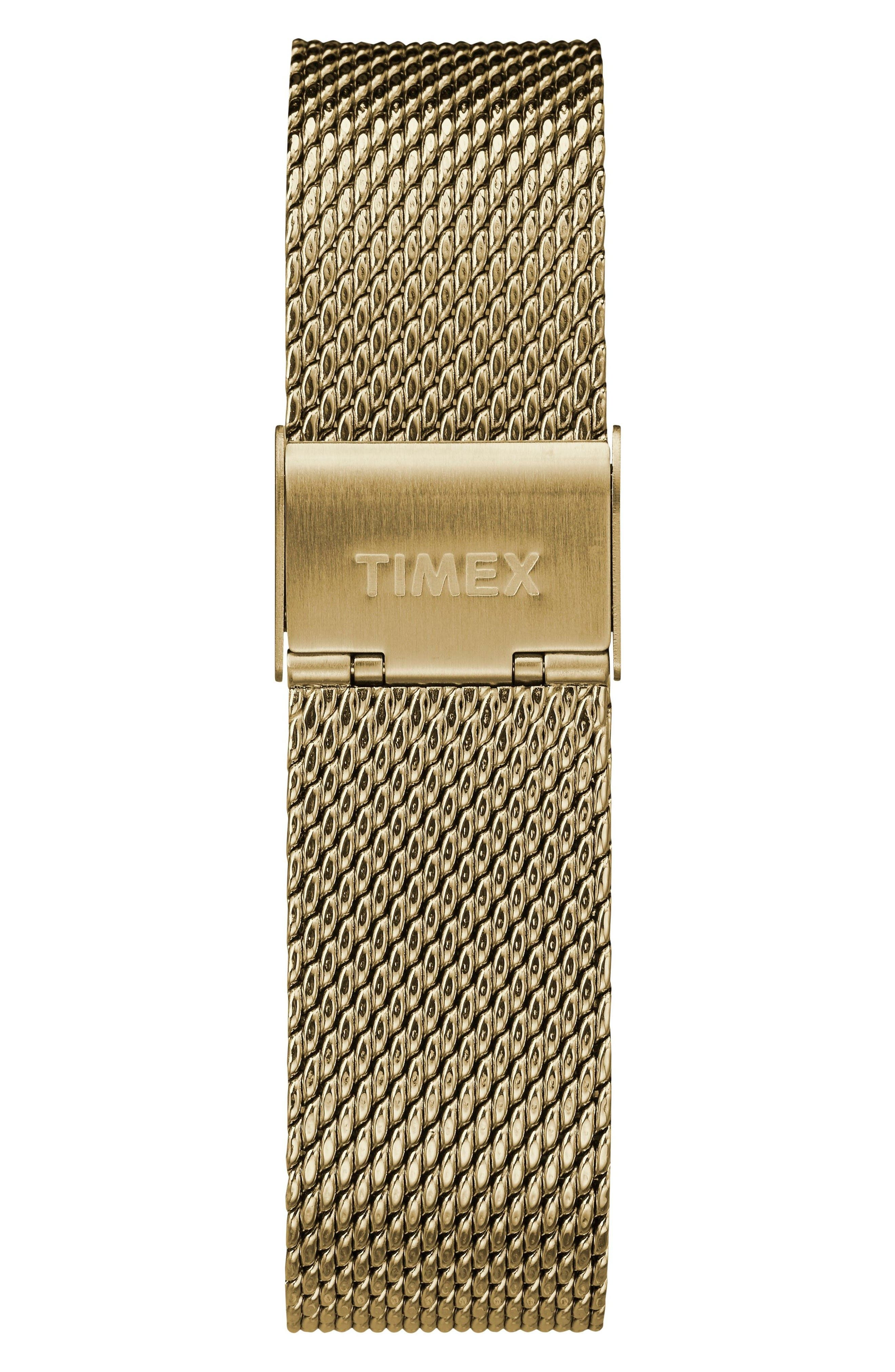 Fairfield Chronograph Mesh Strap Watch, 41mm,                             Alternate thumbnail 2, color,                             Gold/ White/ Gold