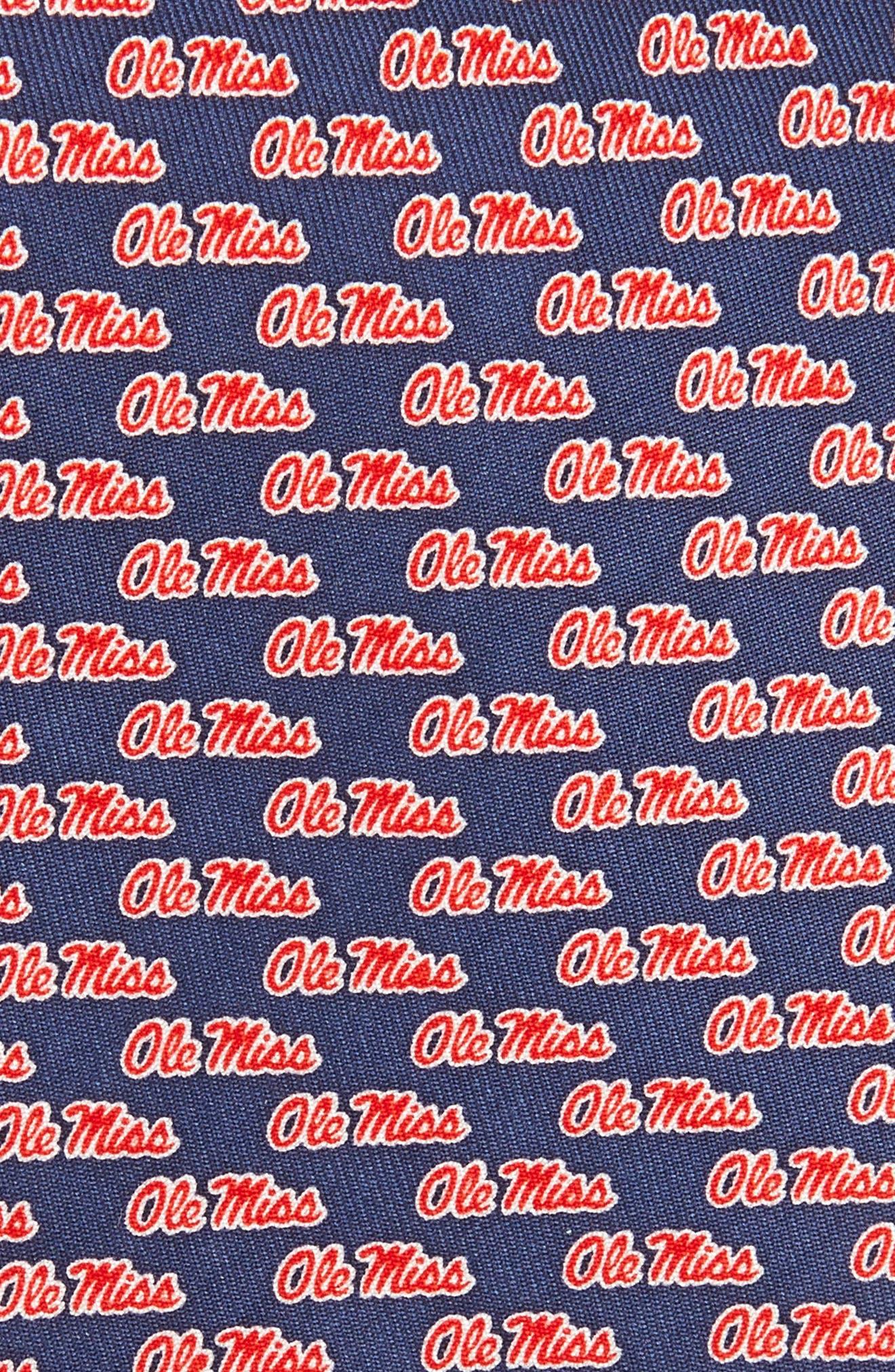 University of Mississippi Silk Tie,                             Alternate thumbnail 2, color,                             Vineyard Navy