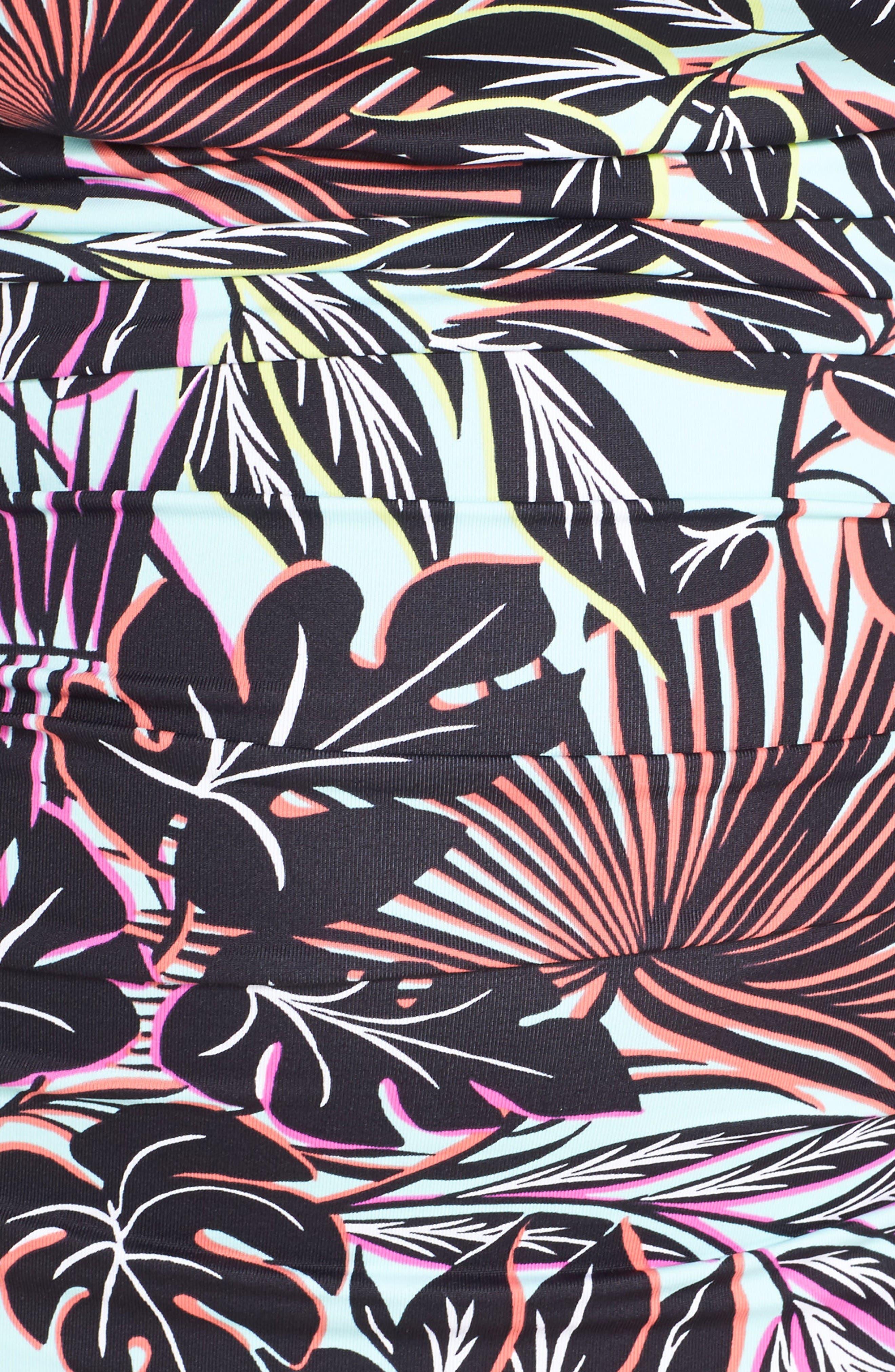 Alternate Image 5  - Tommy Bahama Lively Leaves One-Piece Swimsuit (Plus Size)