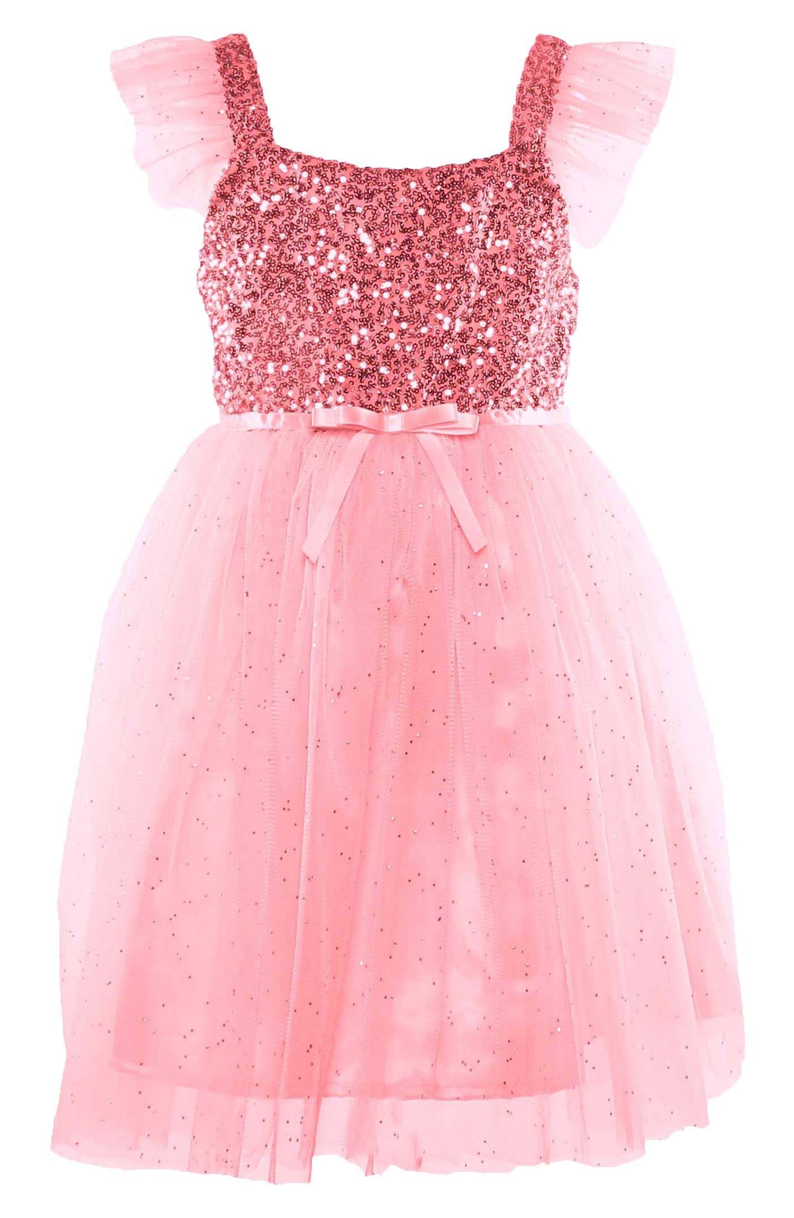 PopatuSequin Bodice Tulle Dress (Toddler Girls, Little Girls & Big Girls)